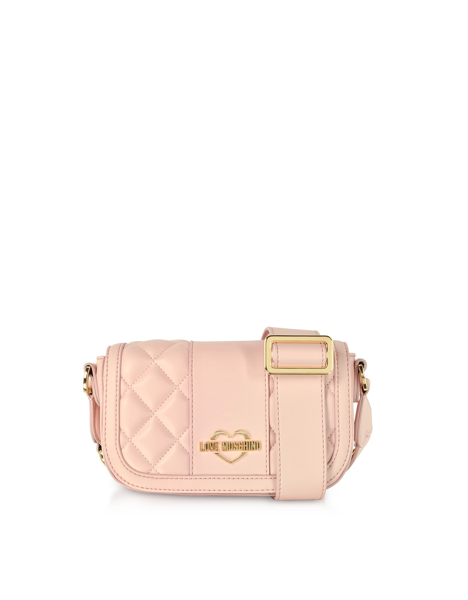 09736e440100 Love Moschino Quilted Eco Leather Camera Bag - Pink ...