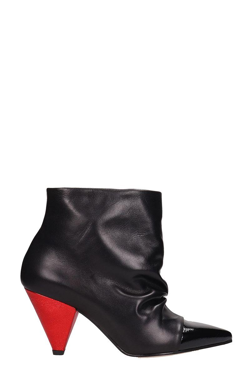 e2ef69654bee Marc Ellis Marc Ellis Black Leather Draped Ankle Boots - black ...