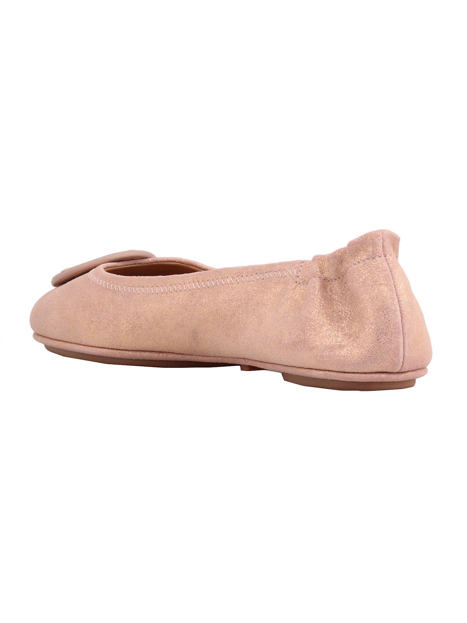 f57cca26f389 Tory Burch Tory Burch Minnie Travel Ballet - METALLIC SEA SHELL PINK ...