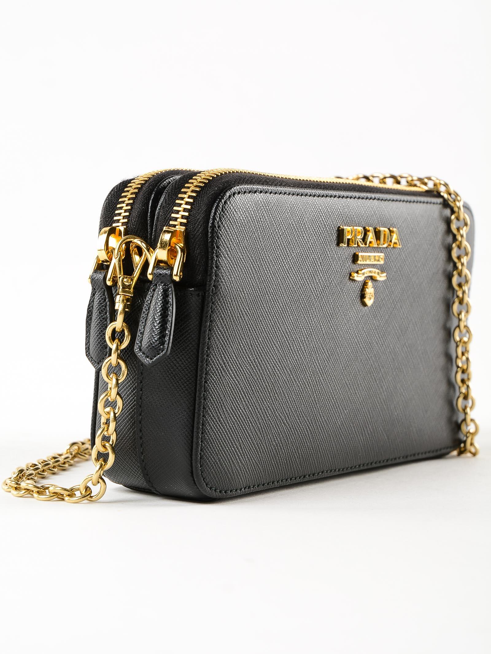 d080f3e469ec Prada Prada Mini Saffiano Shoulder Bag - Nero - 10938053