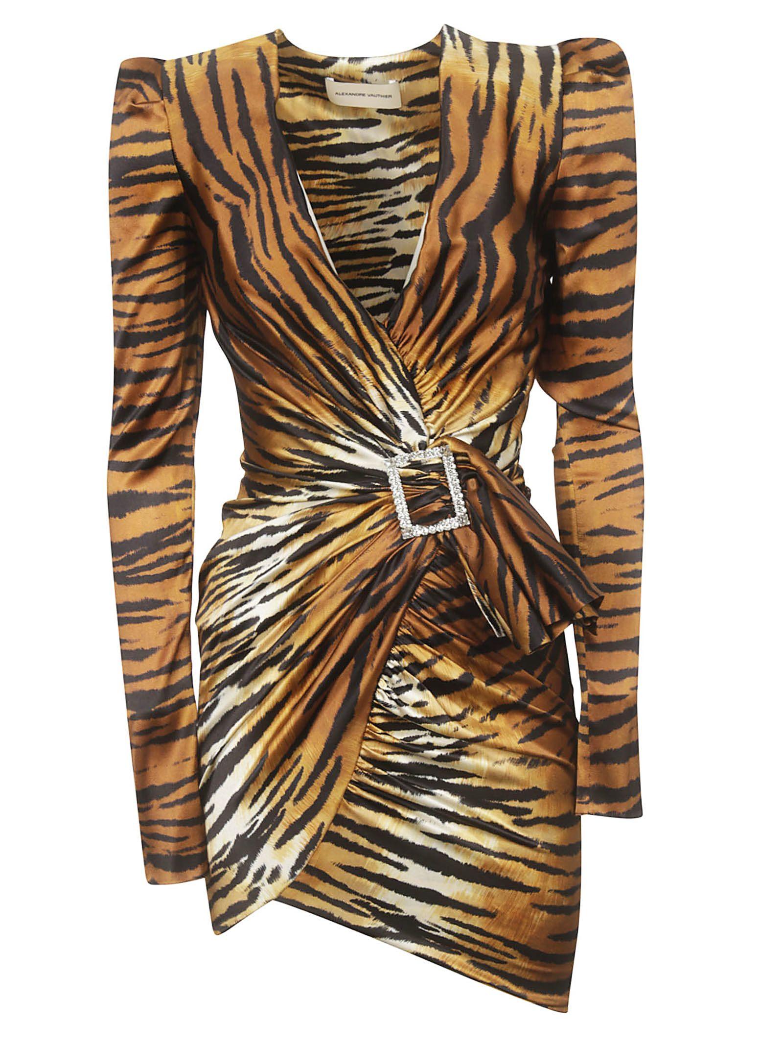 ff98fffa Alexandre Vauthier Alexandre Vauthier Tiger Print Dress - Tiger ...