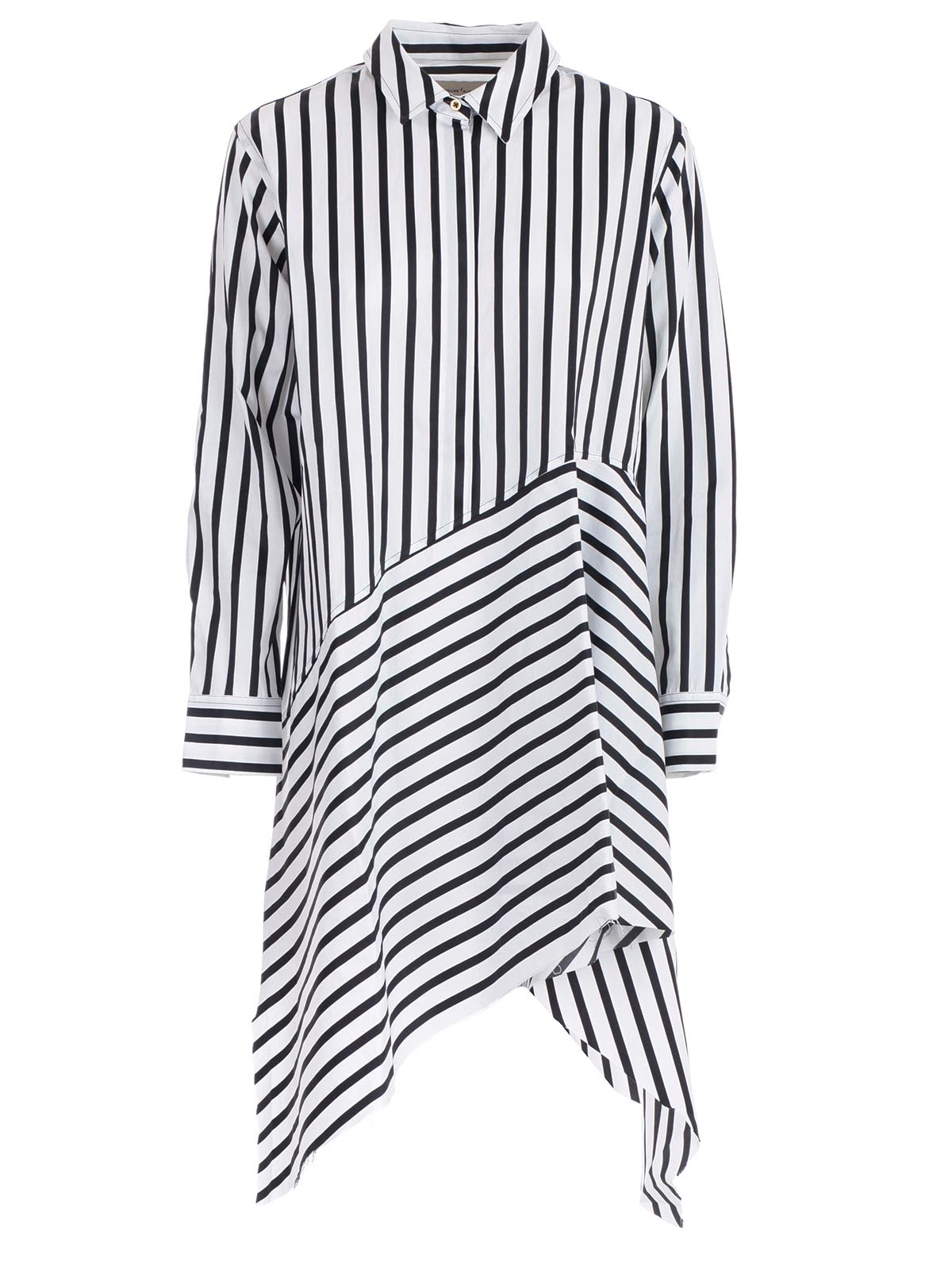 13148e5cb640 Marques'Almeida Marques'Almeida Asymmetric Shirt Dress - Black White ...