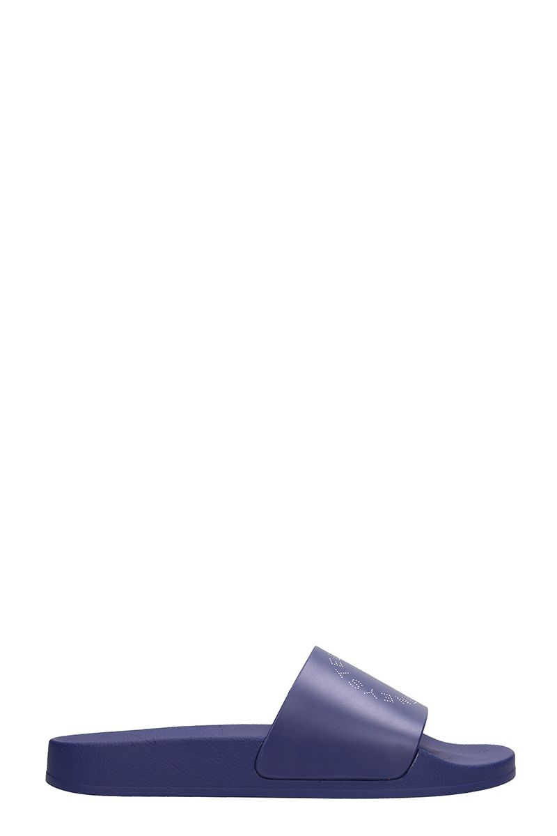 Stella Mccartney Stella McCartney Blue Rubber Slides