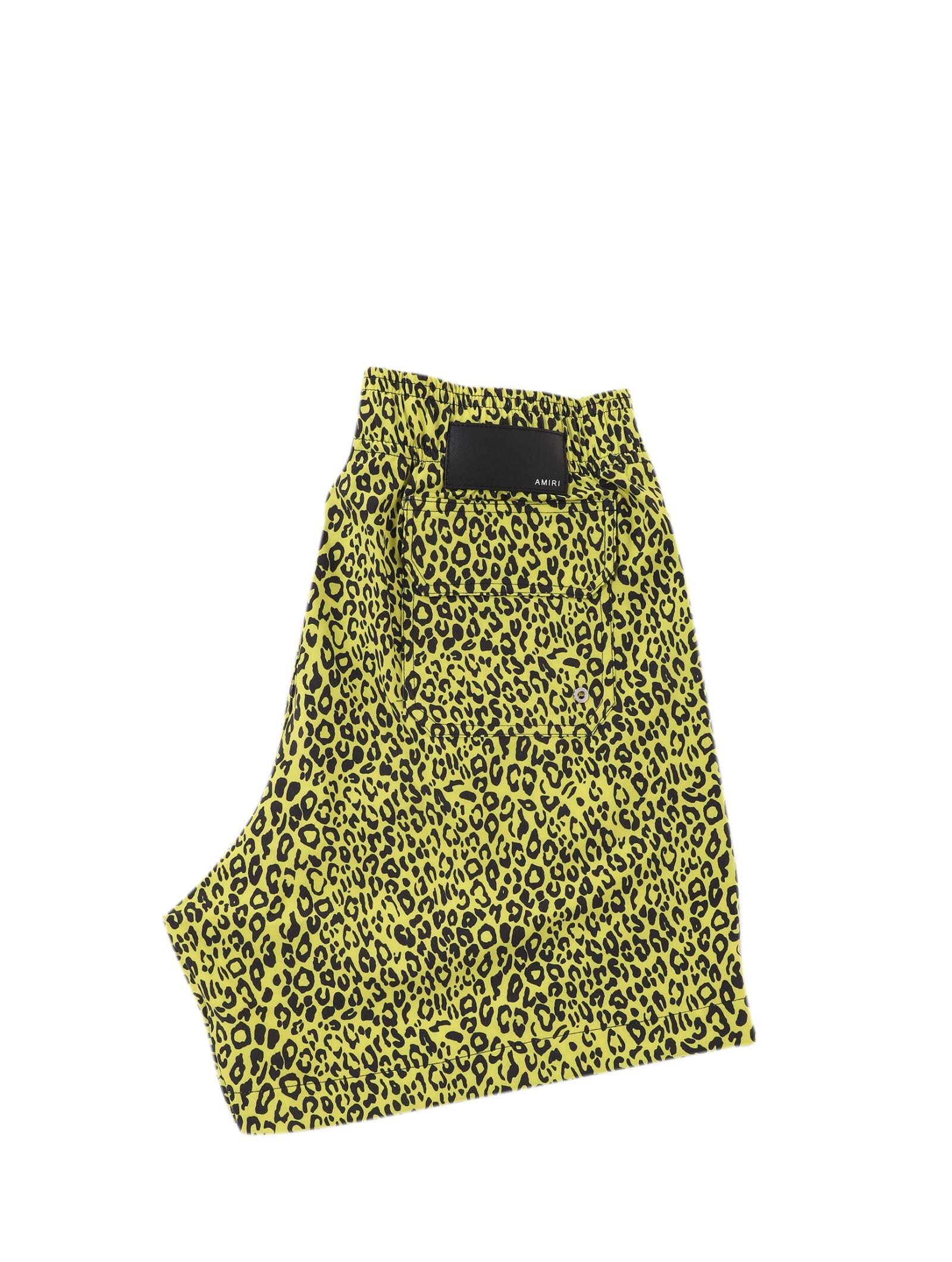 50f3d8c6d112 AMIRI Amiri Yellow Leopard Trunks - Yellow - 10886043   italist