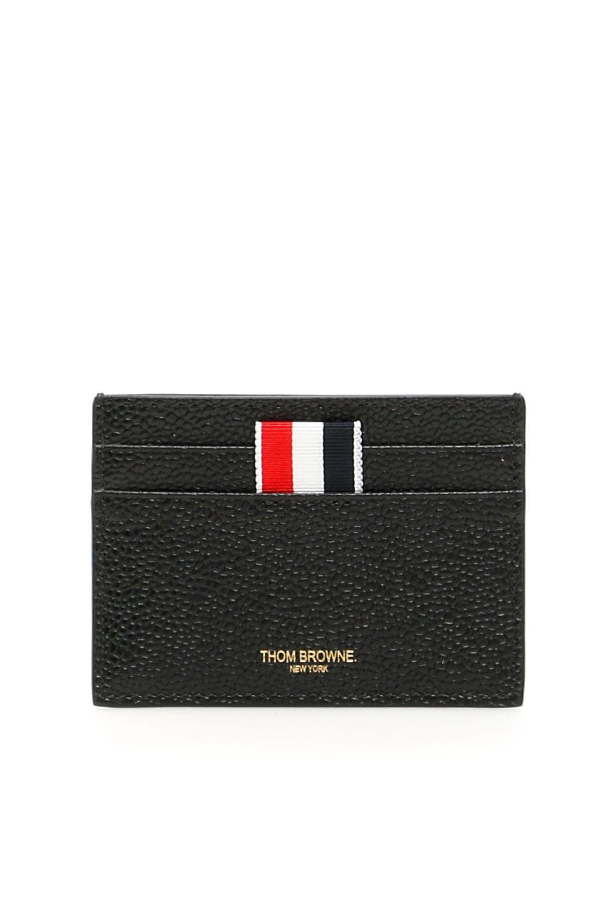 32583a5d4d Thom Browne Thom Browne Grain Leather Cardholder - BLACK (Black ...