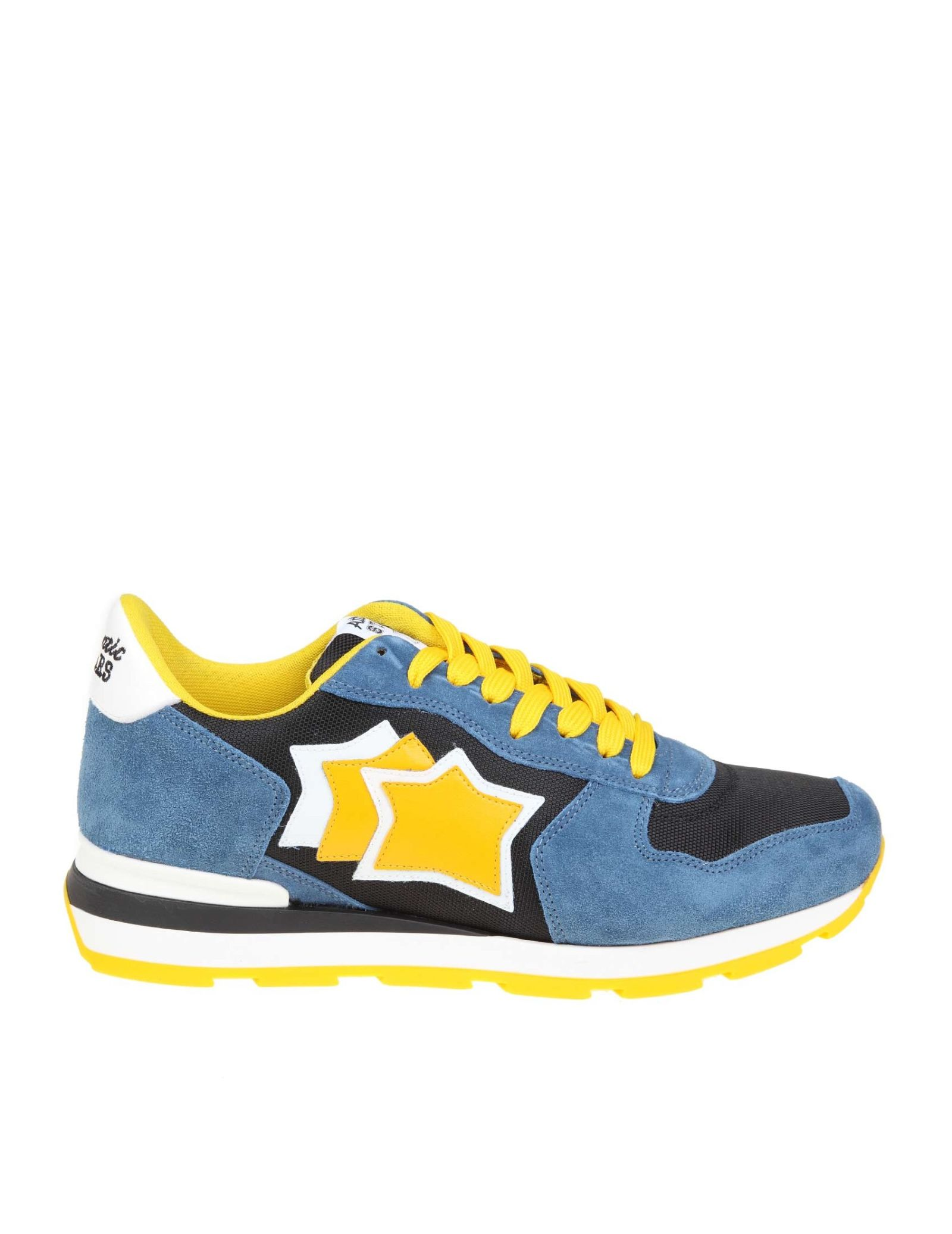 1f8a88c6d6b46 Atlantic Stars Sneakers Antares In Suede And Blue And Yellow Fabric - Basic  ...