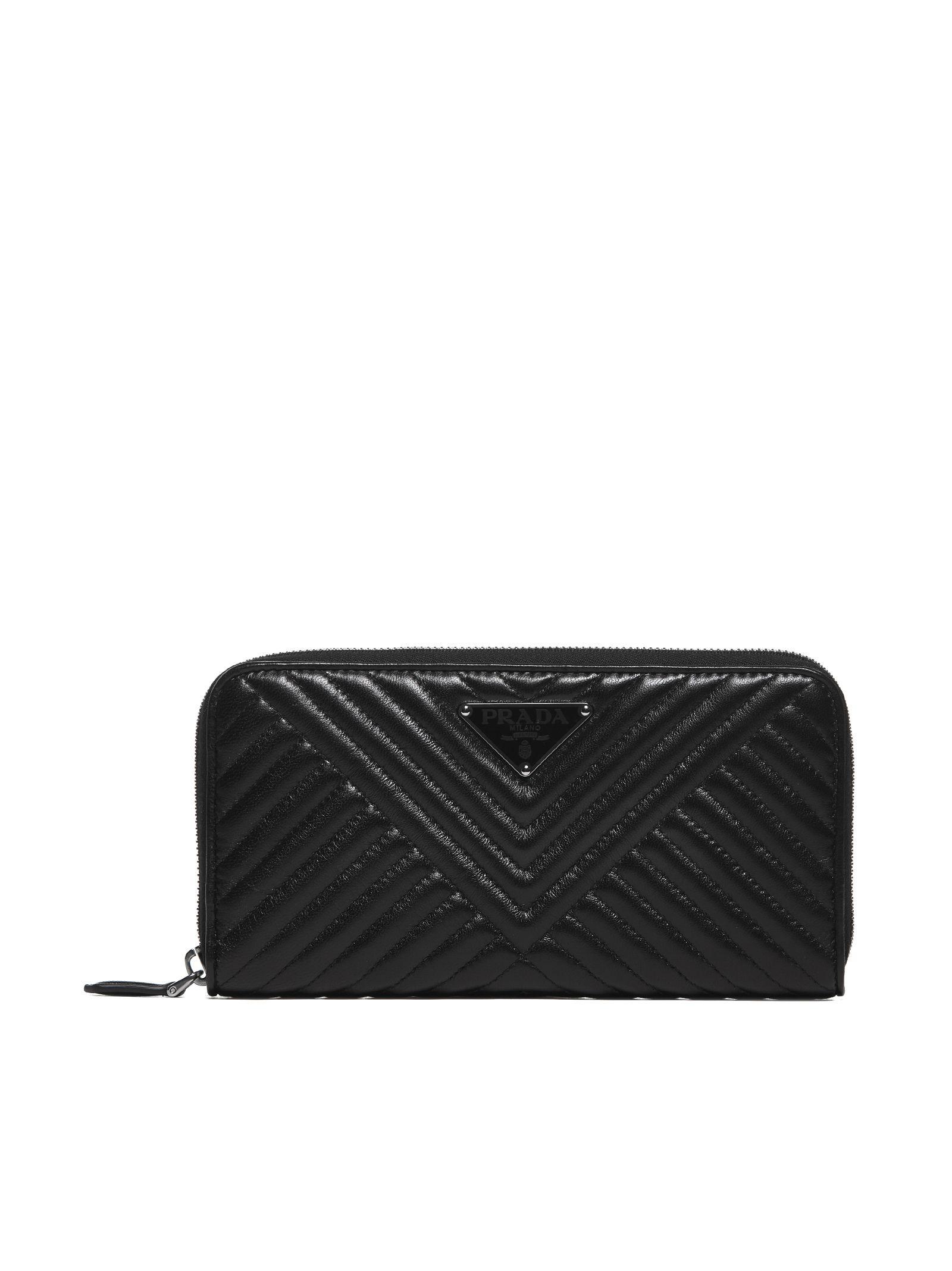 2b6dc7ad1d2a Prada Prada Saffiano Quilted Zip Around Wallet - Nero - 10774266 ...