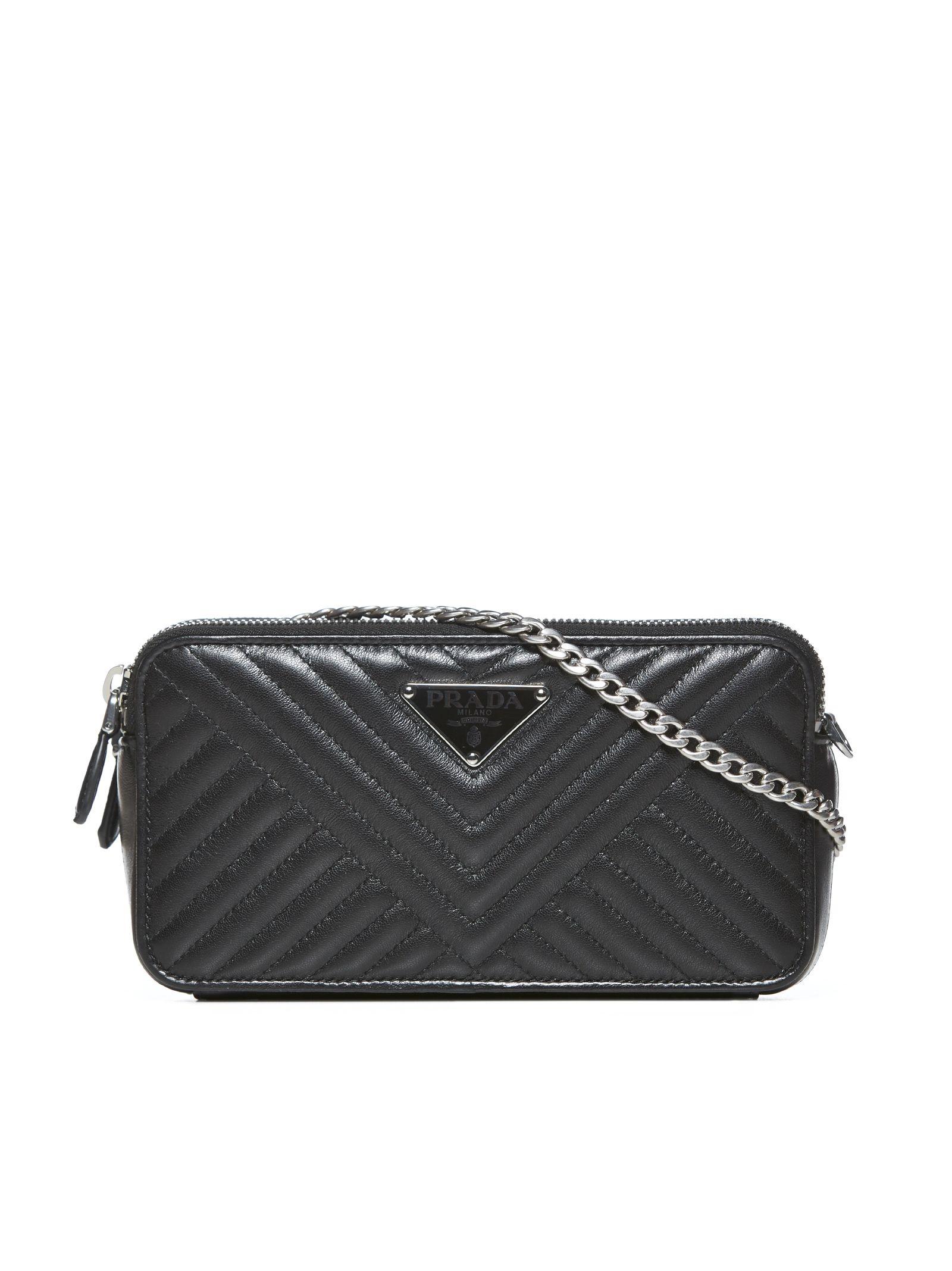3806ffebeabc Prada Prada Quilted Shoulder Bag - Nero - 10904039 | italist