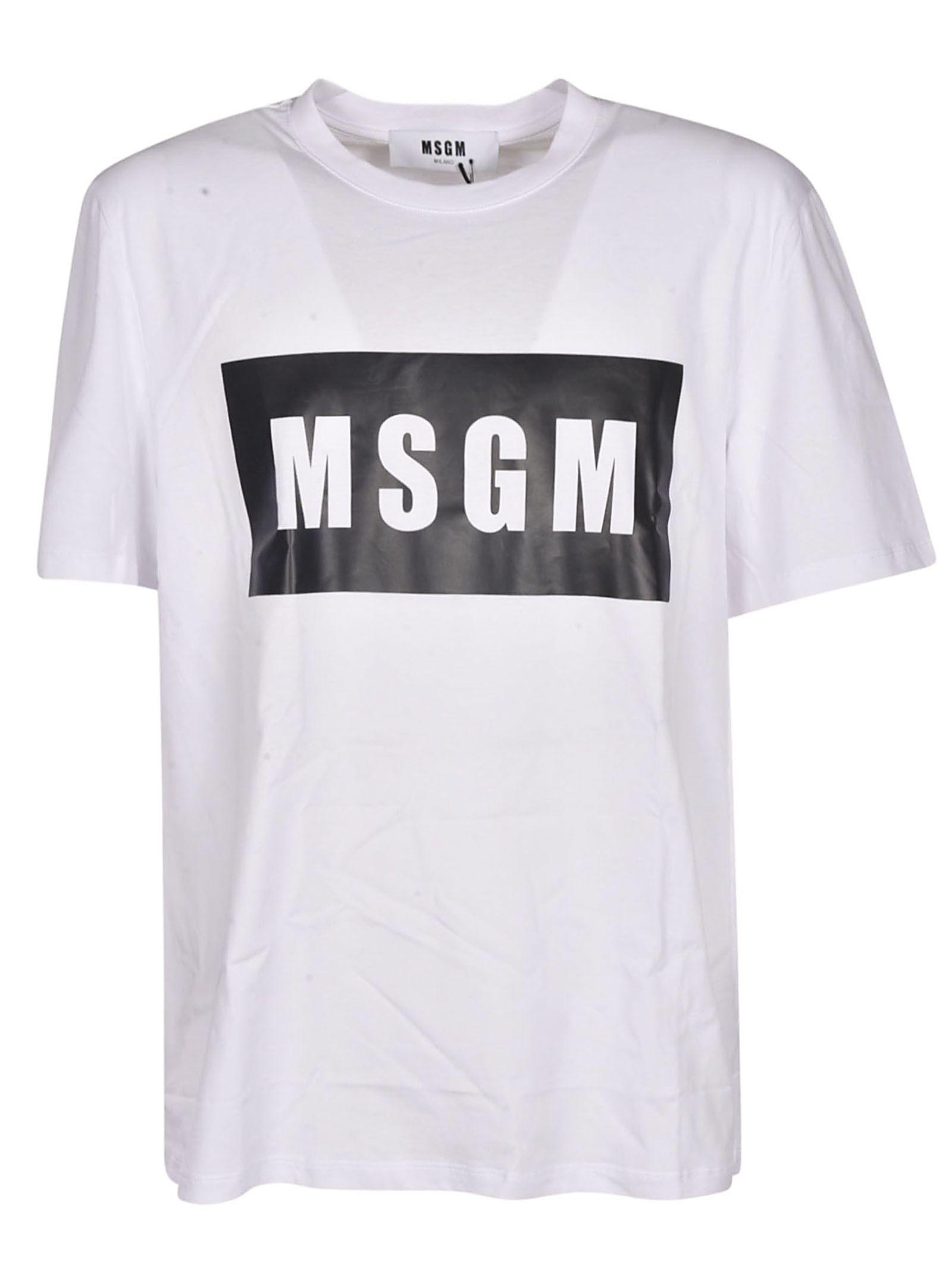 T 10817737Italist Box Logo White Shirt Msgm tQxBCshrdo