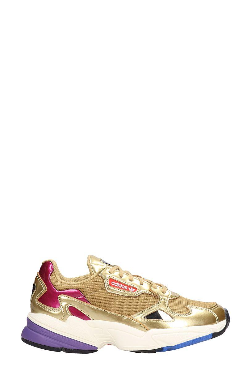 f98c821e2f055 Adidas Adidas Falcon W Gold Fabric Sneakers - gold - 10791128