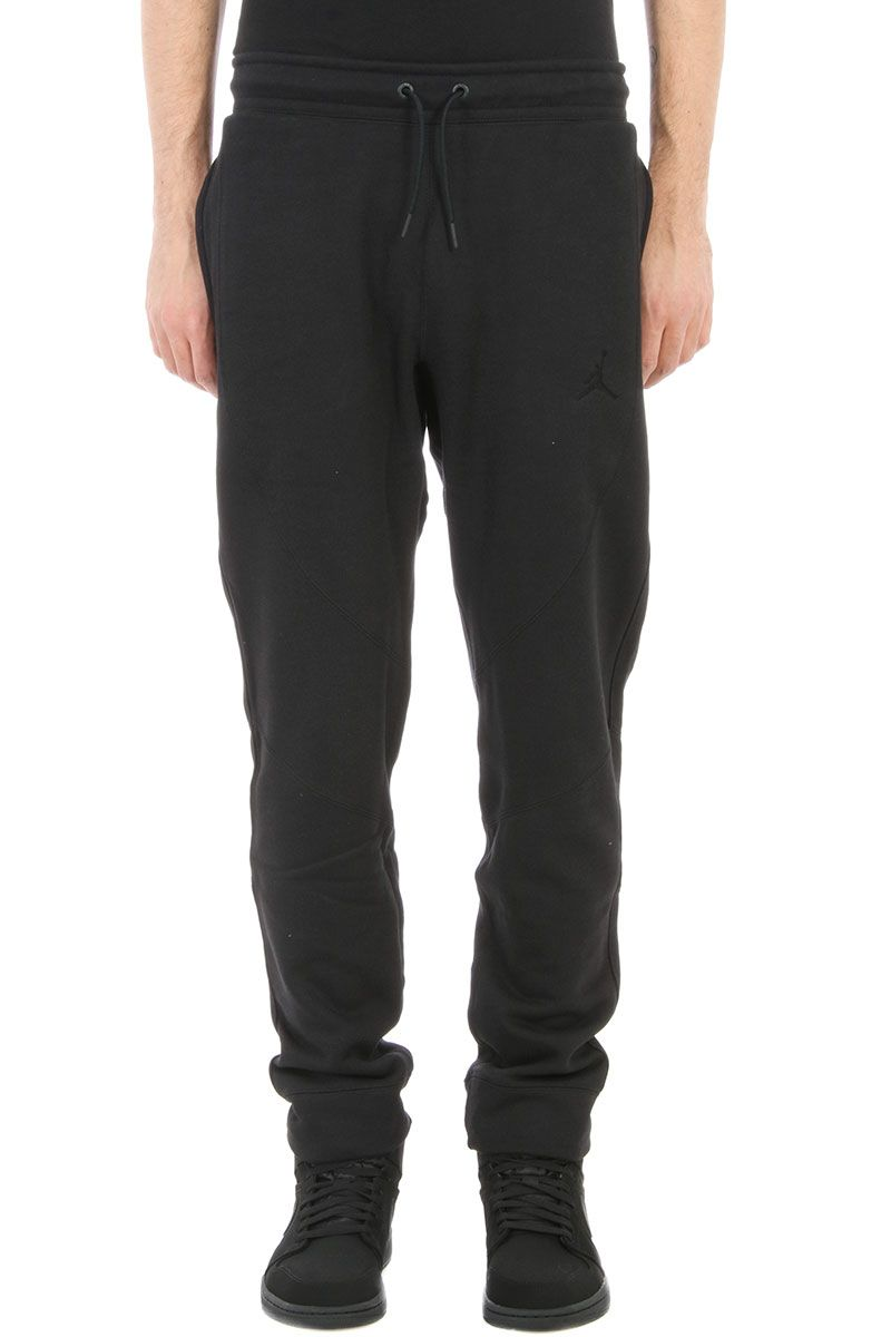 24afb3328a71 Nike Wings Fleece Black Cotton Pants - black ...