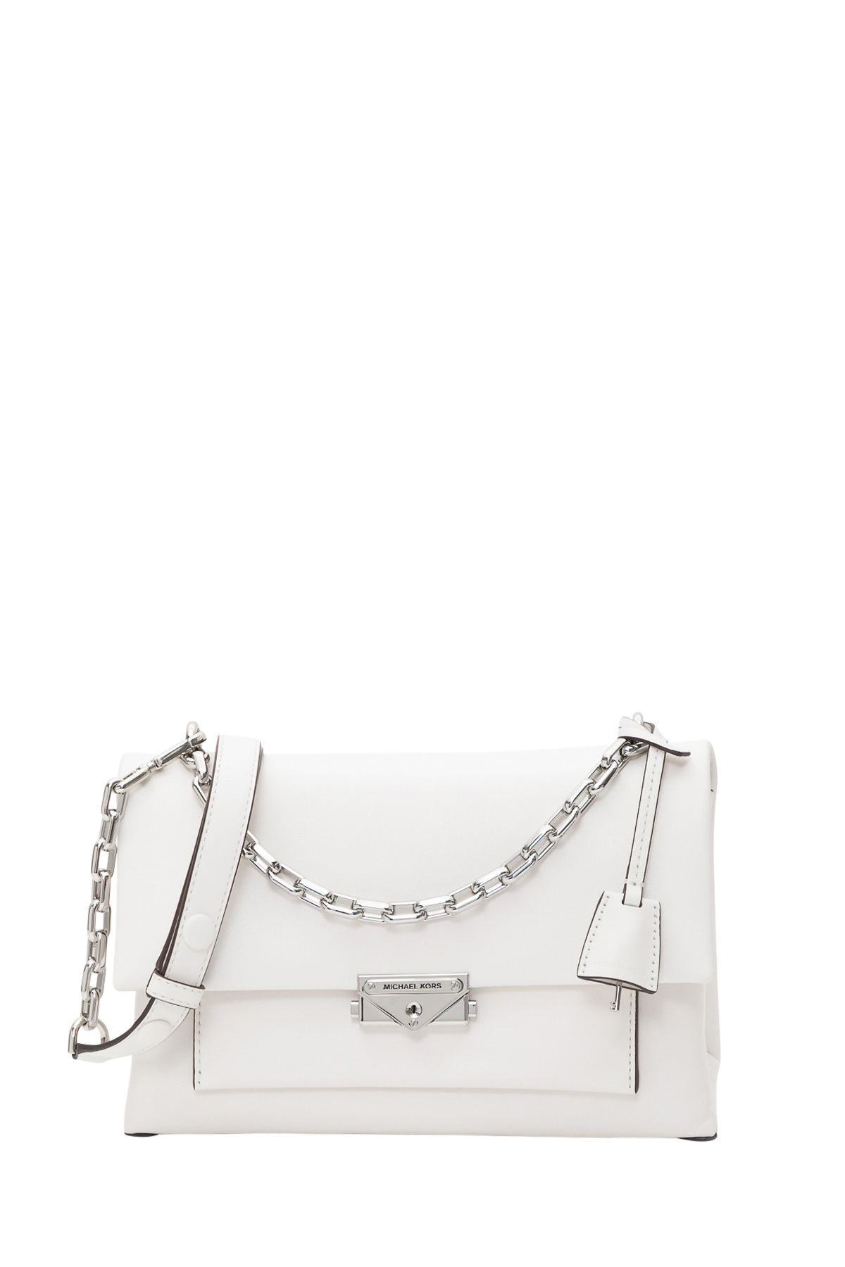 862a2d8f04fc21 MICHAEL Michael Kors Cece Large Leather Shoulder Bag - White ...