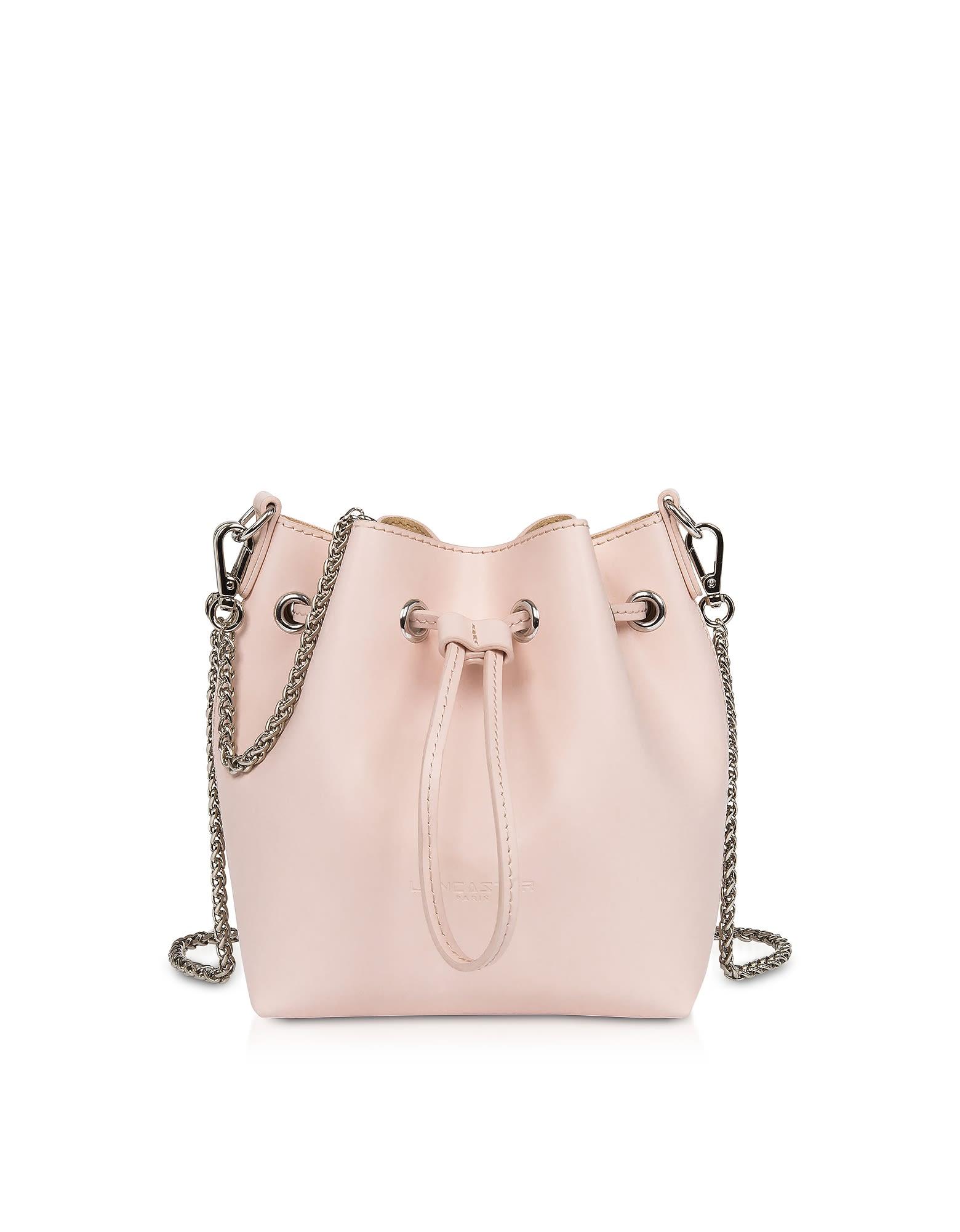 Lancaster Paris Treasure And Annae Leather Mini Bucket Bag - Rose ...