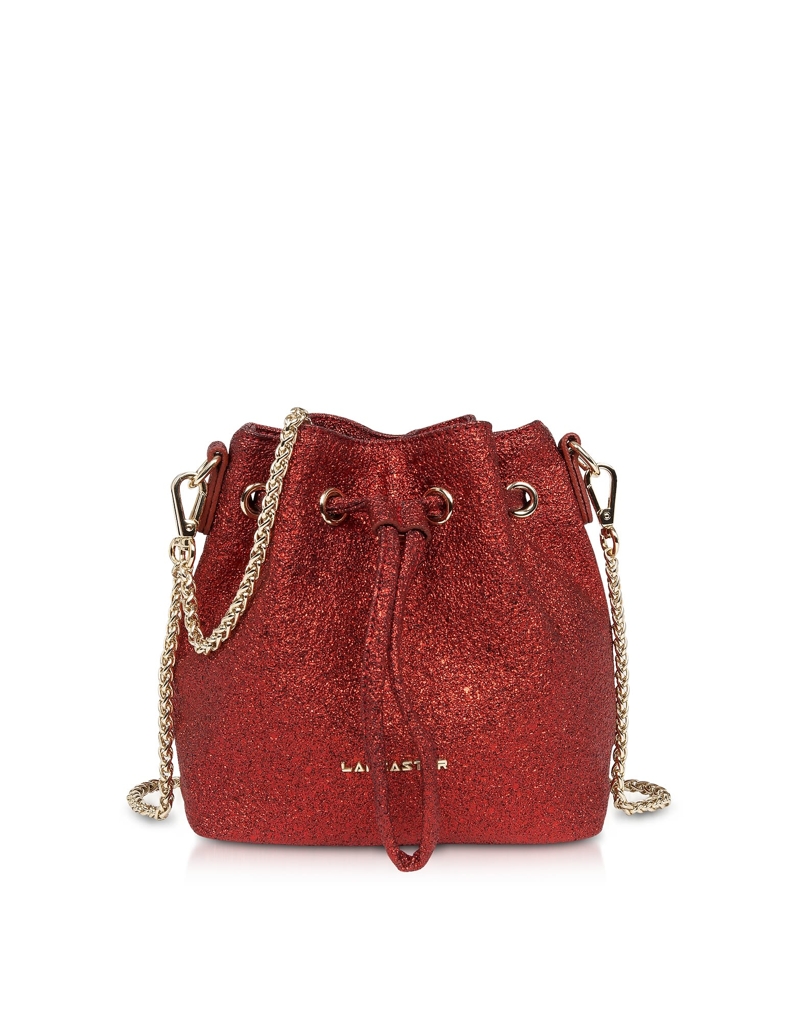 Lancaster Paris Lancaster Paris Actual Shiny Mini Bucket Bag - Red ...