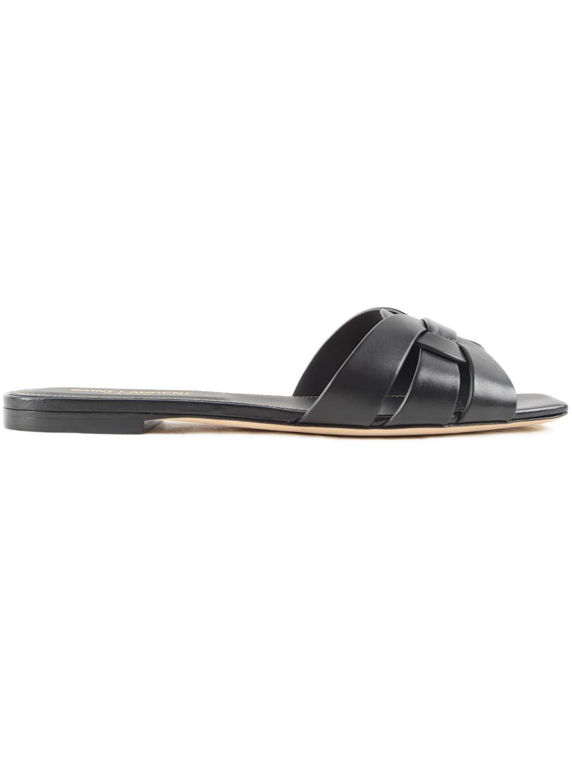f75d9ba0655 Saint Laurent Nu Pieds Slide Sandal - Black - 10807741