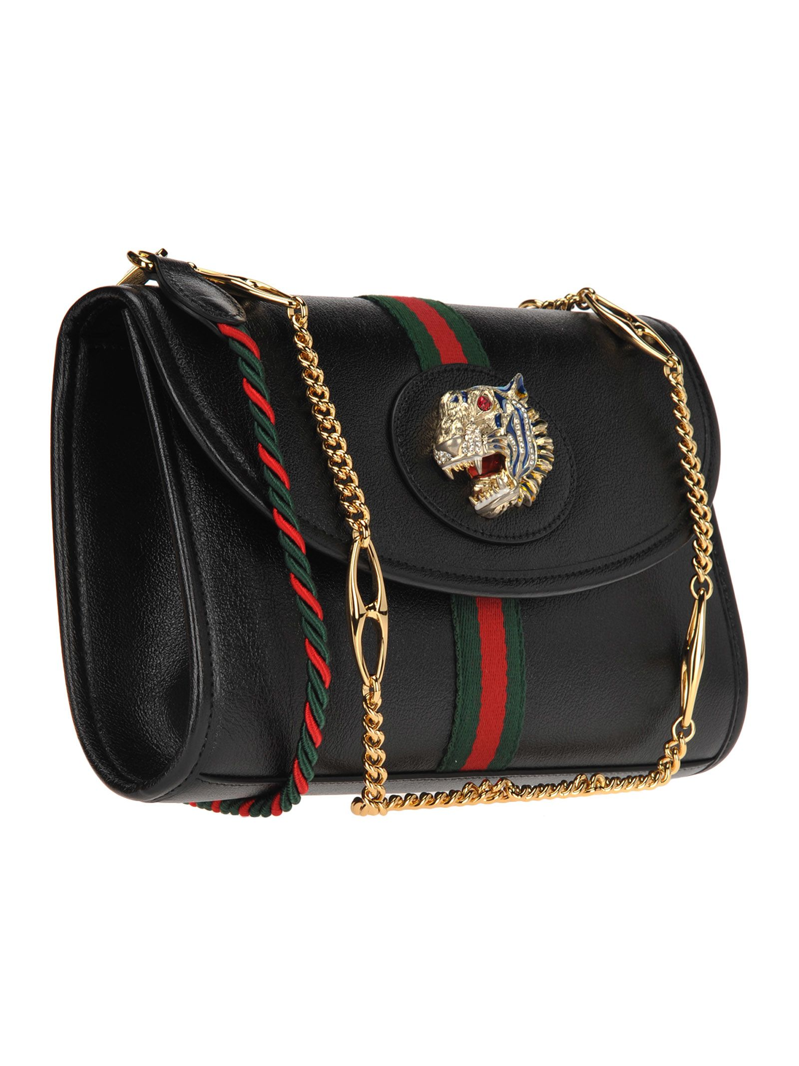0fa65e708815 Gucci Gucci Small Shoulder Bag Rajah Web - BLACK + WEB - 10923834 ...