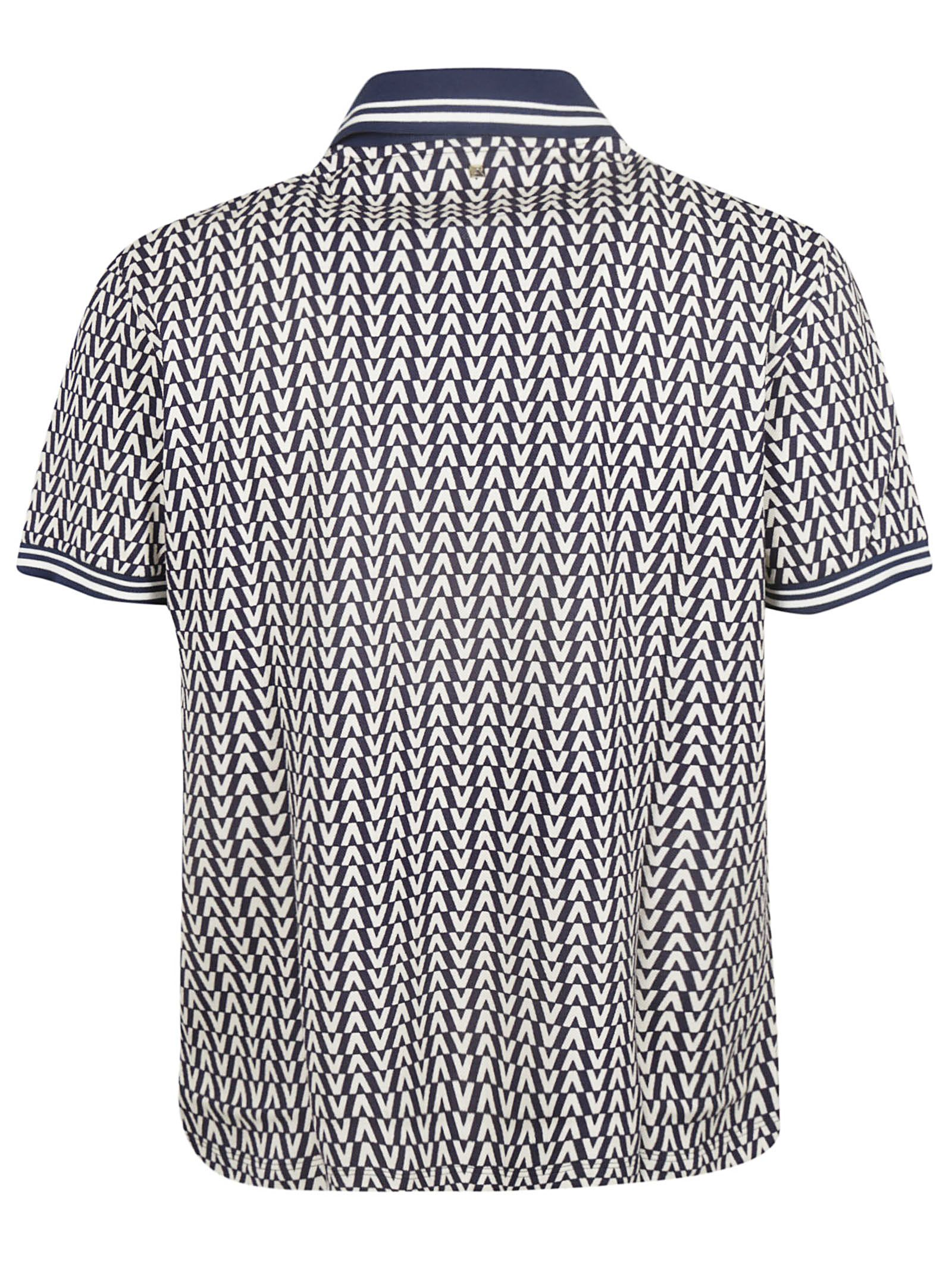 39b04c84 Valentino Valentino Optical Print Polo Shirt - 10853728 | italist