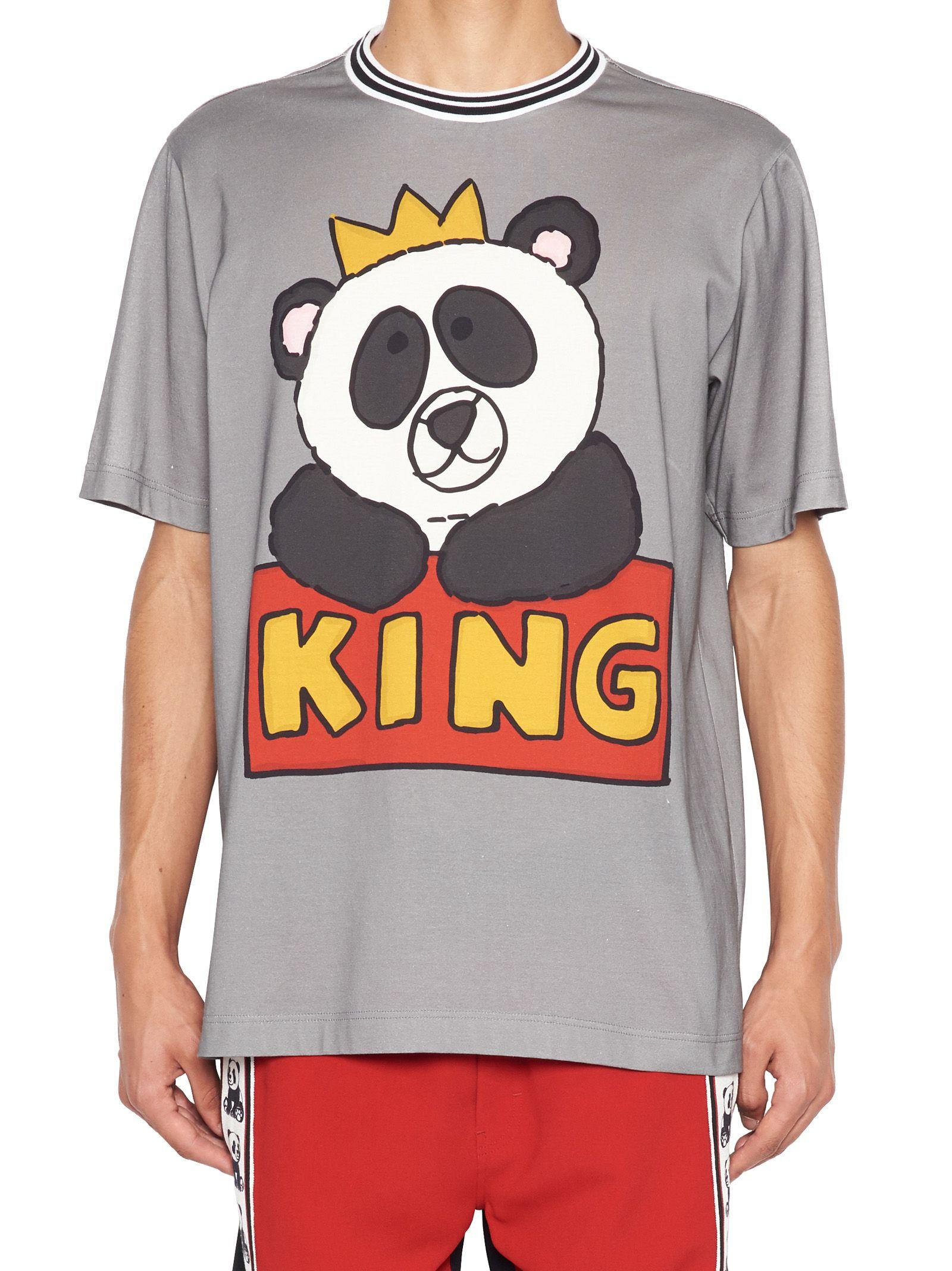 986ff1ee0d Dolce & Gabbana Dolce & Gabbana 'panda King' T-shirt - Grey ...
