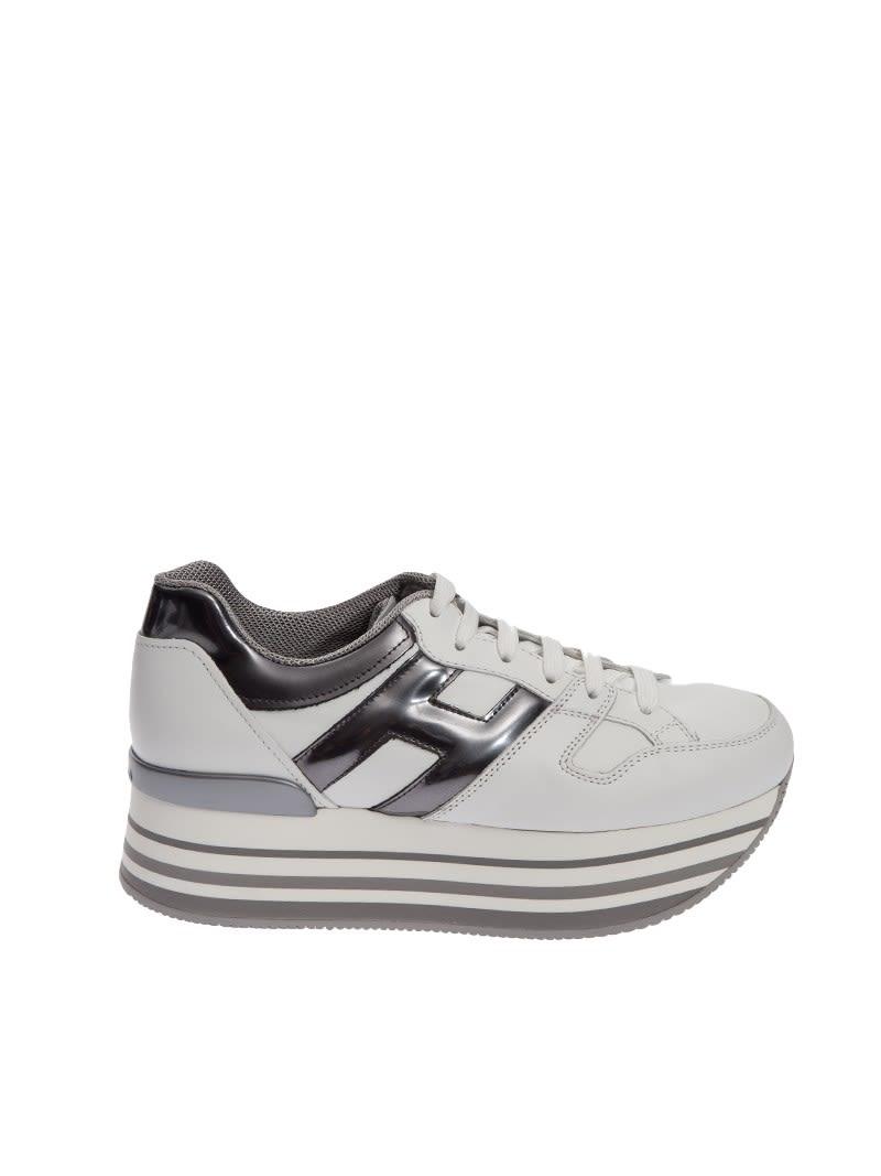 5425acc6a53a9 Hogan Hogan Maxi H222 Platform Sneakers - White - 8153473