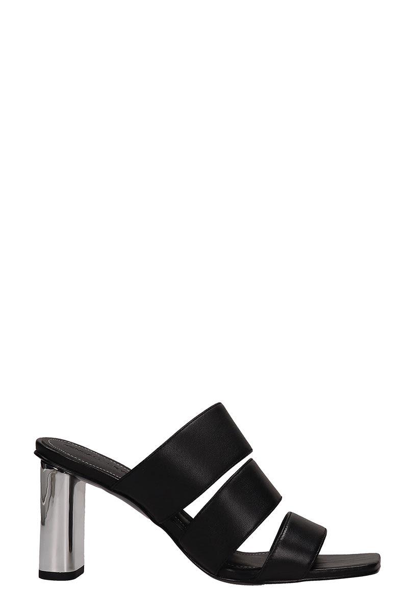 cda86367b21 Kendall + Kylie Kendall + Kylie Black Leather Leila Sandals - Black ...