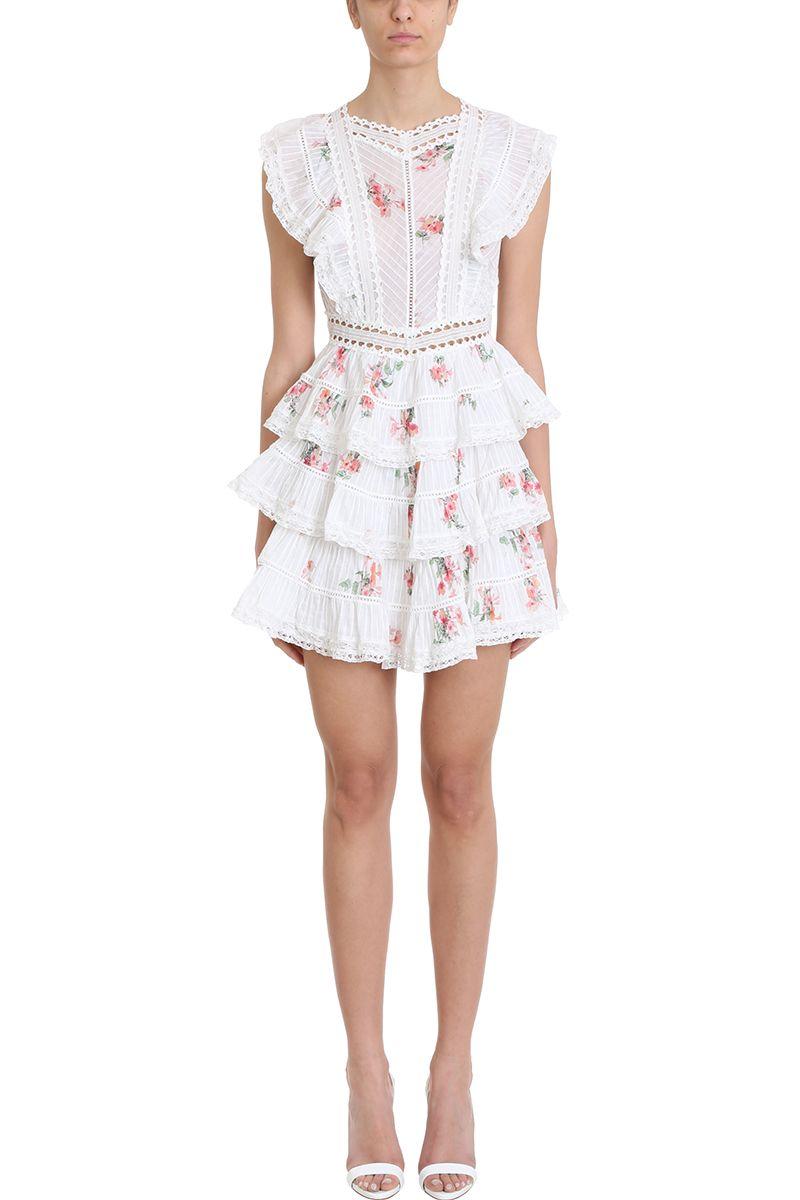 5e40c5e53b Zimmermann Zimmermann Heathers Pintuck Frill Dress - White ...
