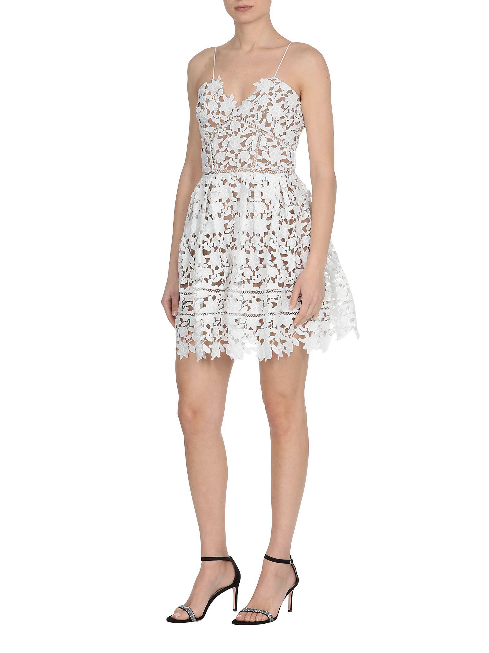 2959319f475b self-portrait self-portrait Mini Dress Azalea - WHITE - 10895110 ...