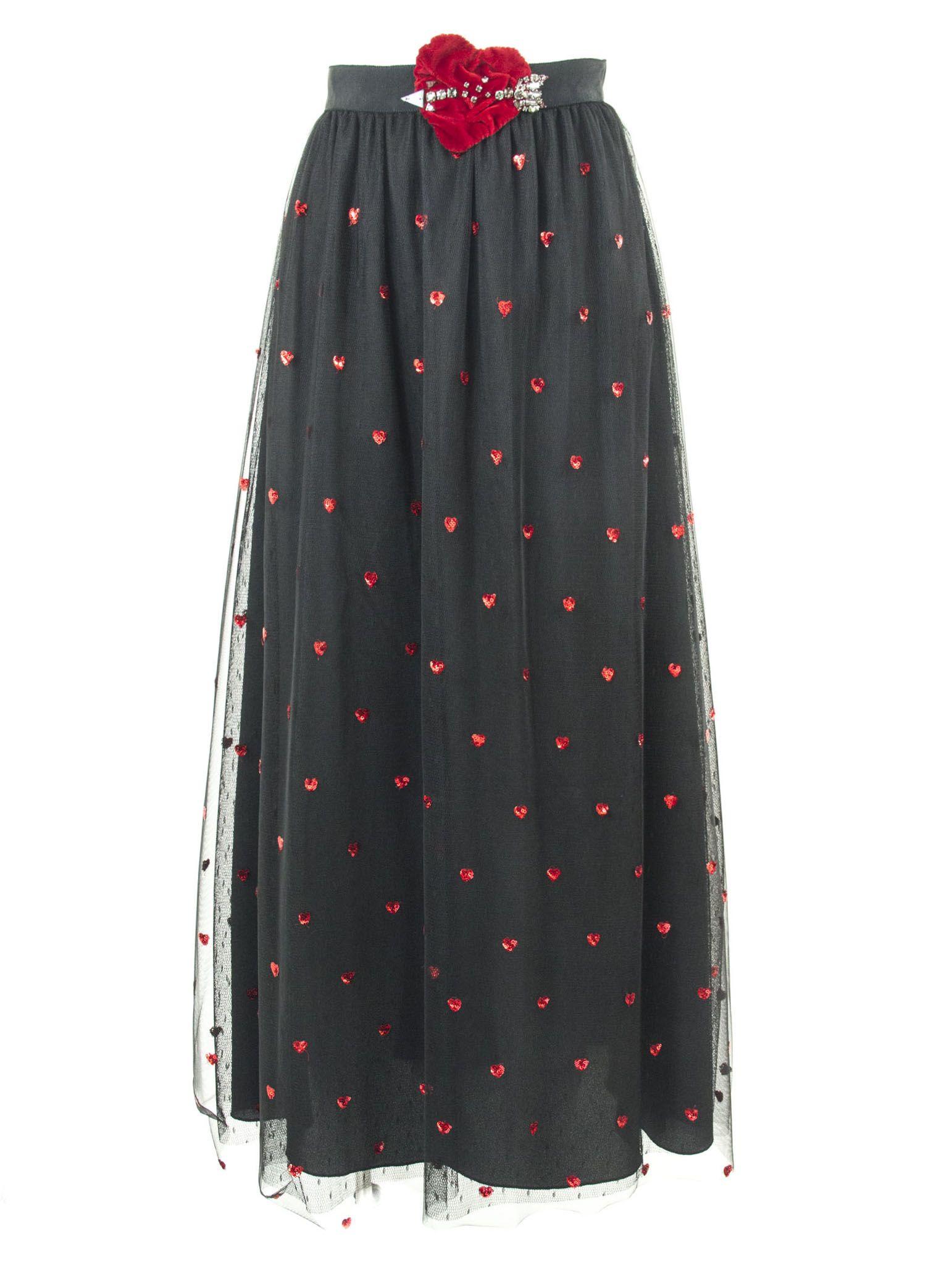 1448dff7c5 RED Valentino RED Valentino Black Point D'esprit Tulle Skirt - Nero ...