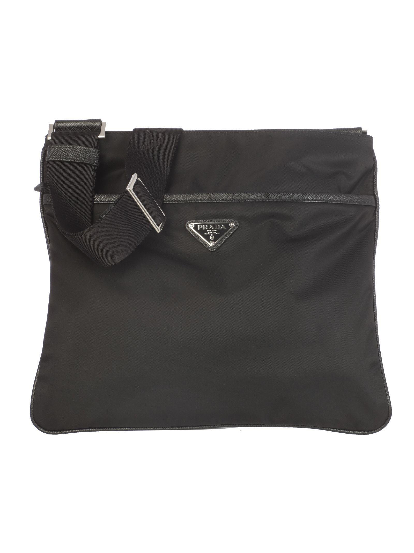 4d92777450e9 Prada Prada Logo Plaque Shoulder Bag - Black - 10770081 | italist