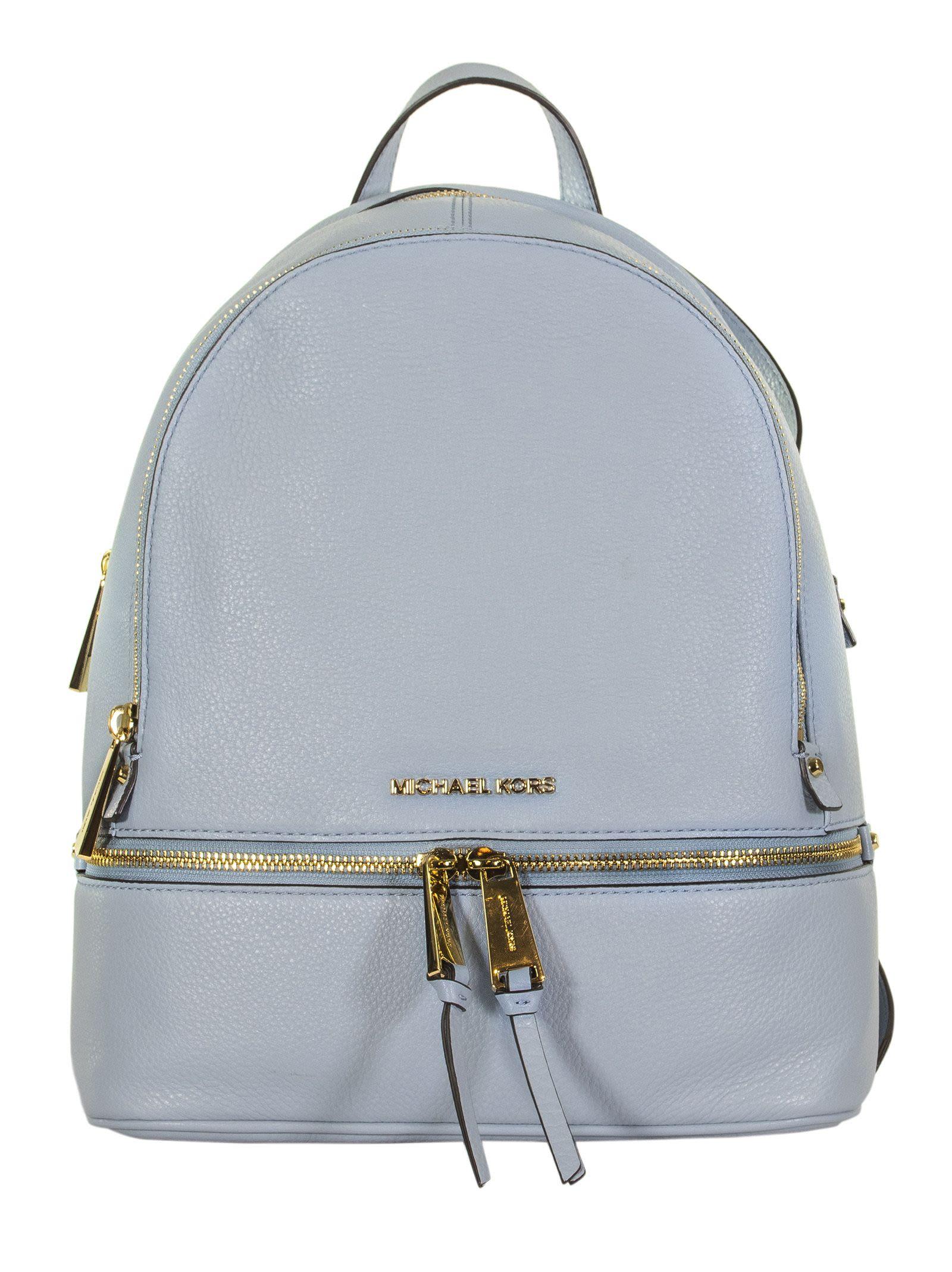 698c21491c93 Michael Kors Michael Kors Logo Plaque Backpack - PALE BLUE ...