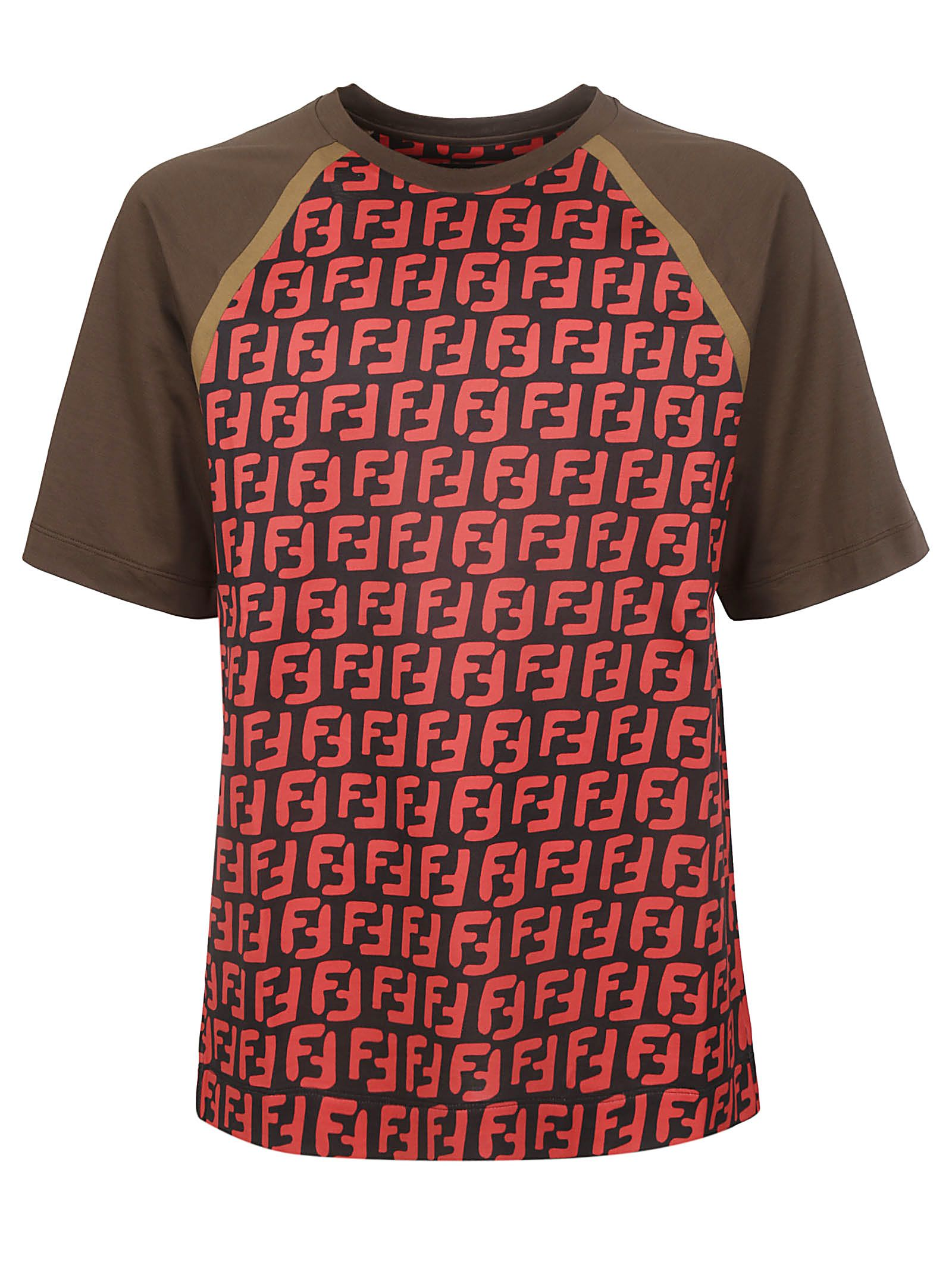 607e33d3 Fendi Fendi Ff Logo T-shirt - Multicolor - 10924252 | italist