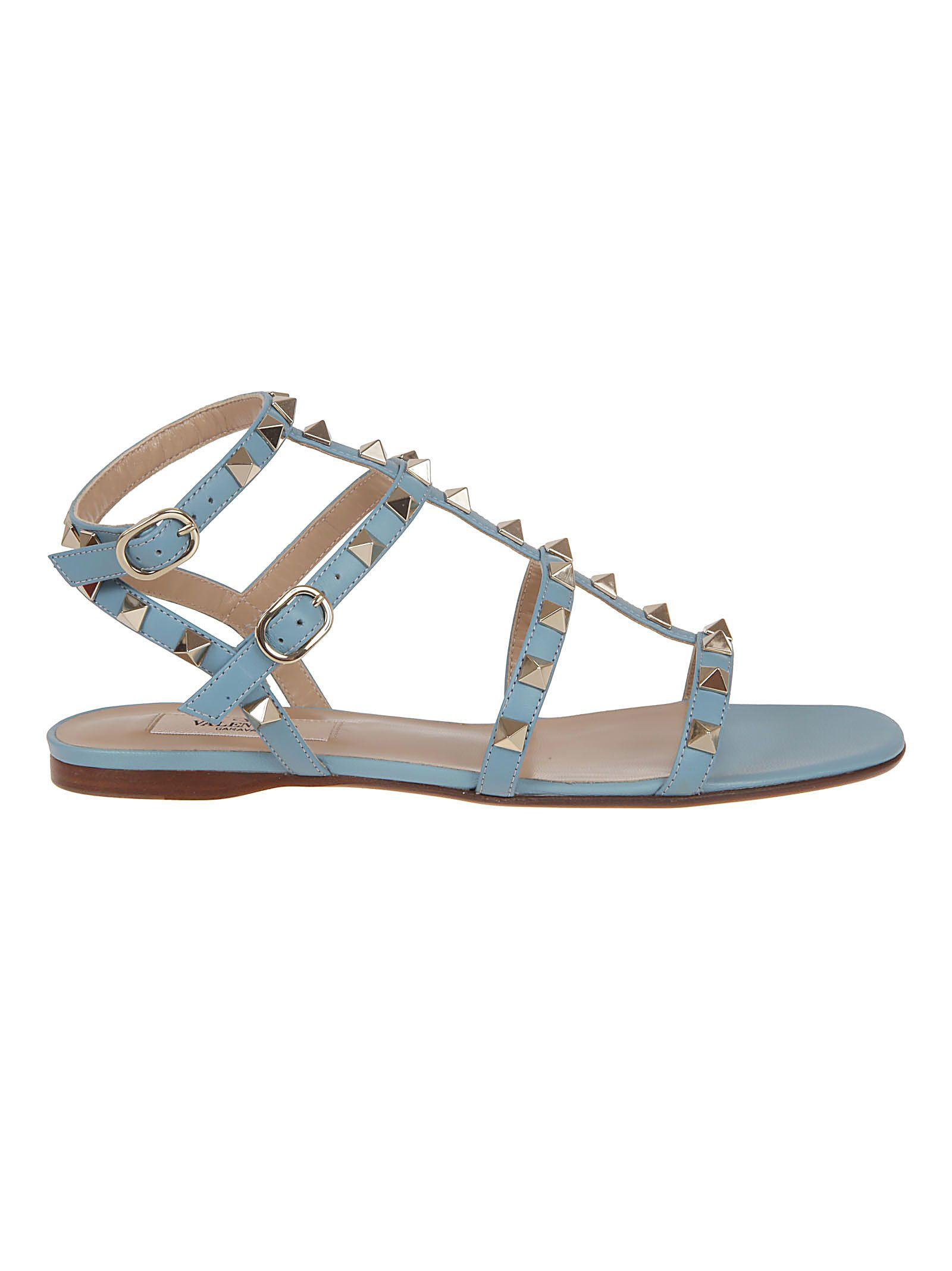 82f5408e071d Valentino Garavani Valentino Garavani Rockstud Caged Flat Sandals ...