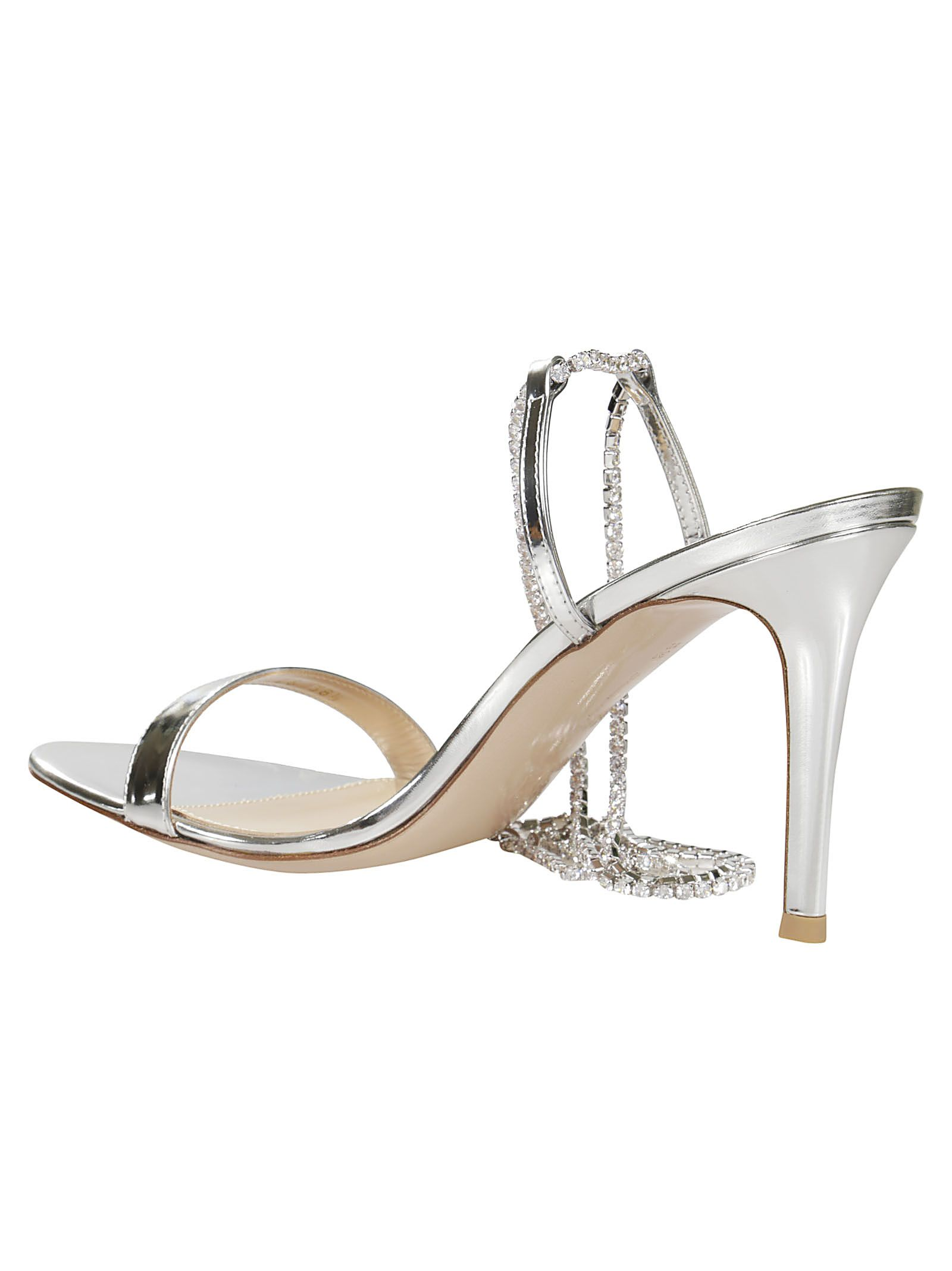 05a064396 Gianvito Rossi Gianvito Rossi Tennis Crystal Sandals - Silver ...