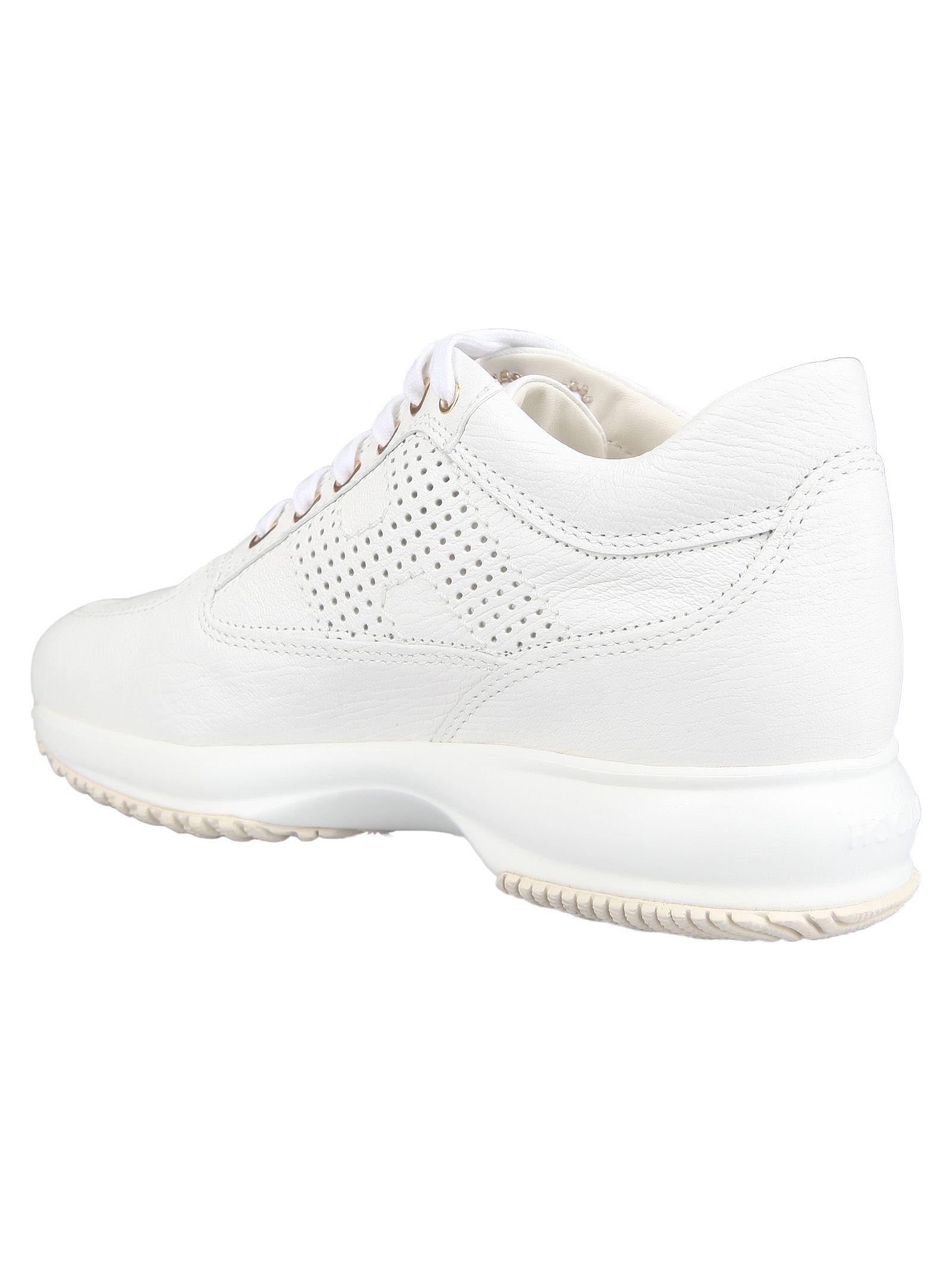 Hogan Hogan Perforated Logo Sneakers - 10789015 | italist