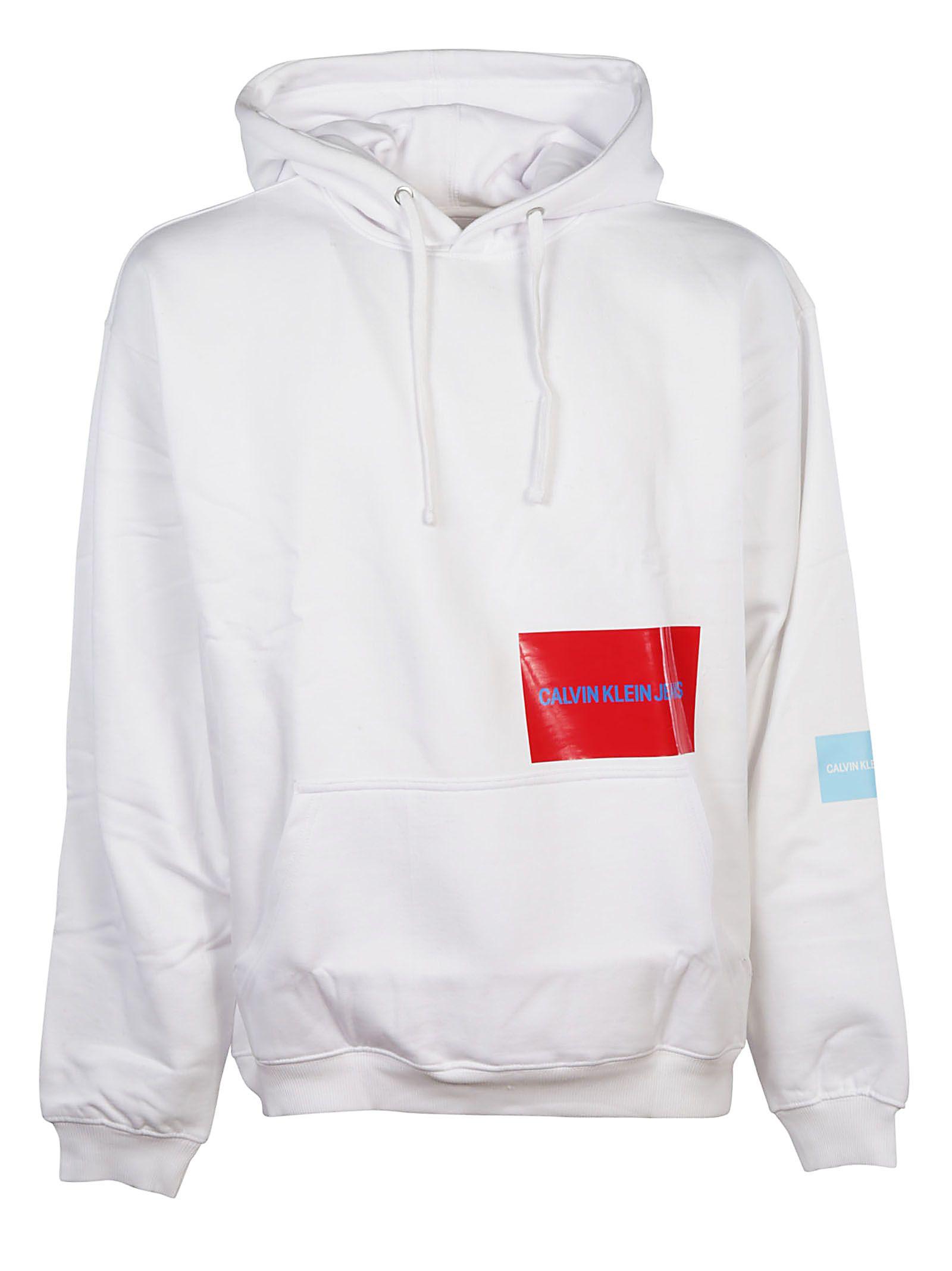 15b68a950fd3 Calvin Klein Calvin Klein Jeans Contrast Logo Hoodie - Basic ...