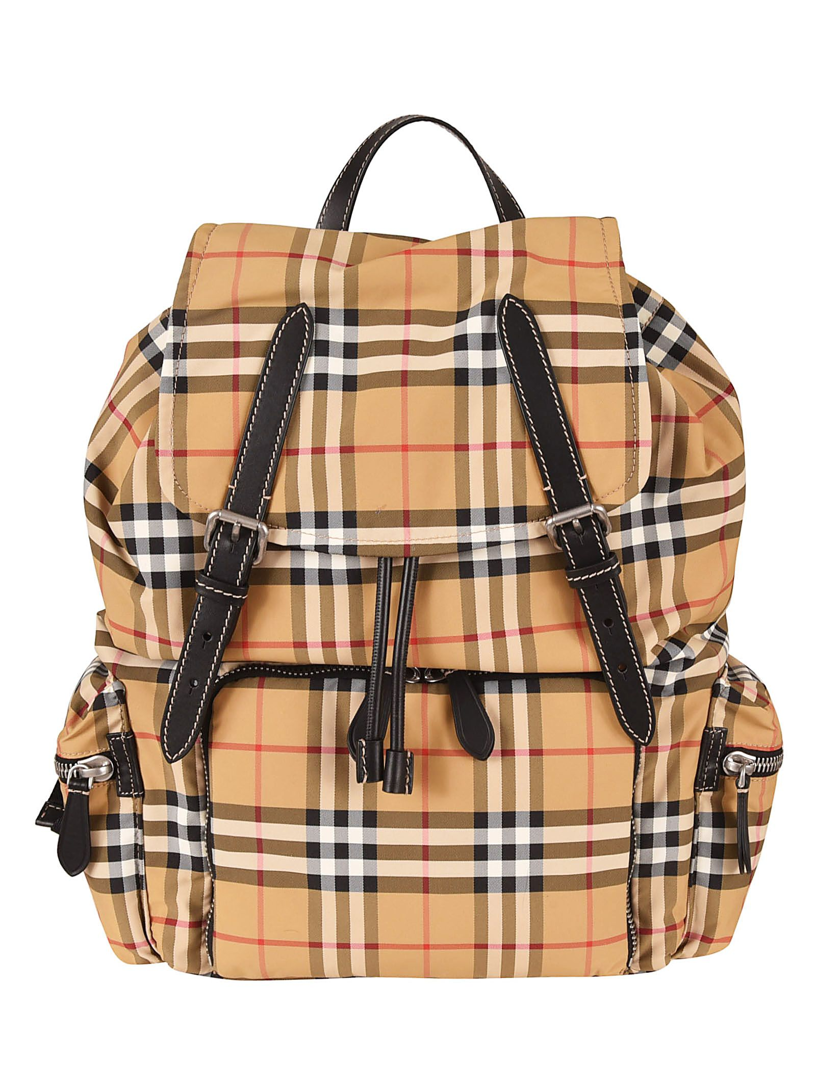 bcca89b2a365 Burberry Burberry Vintage Check Backpack - Yellow - 10861114