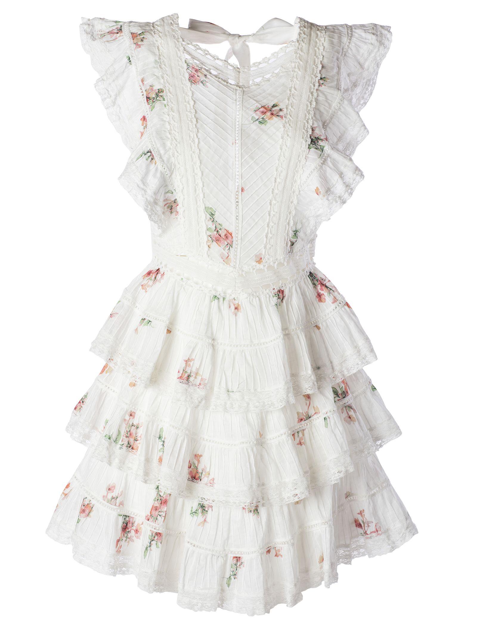 8ab11a76a8876 Zimmermann Zimmermann Heather Pintuck Dress - White - 10840792 | italist