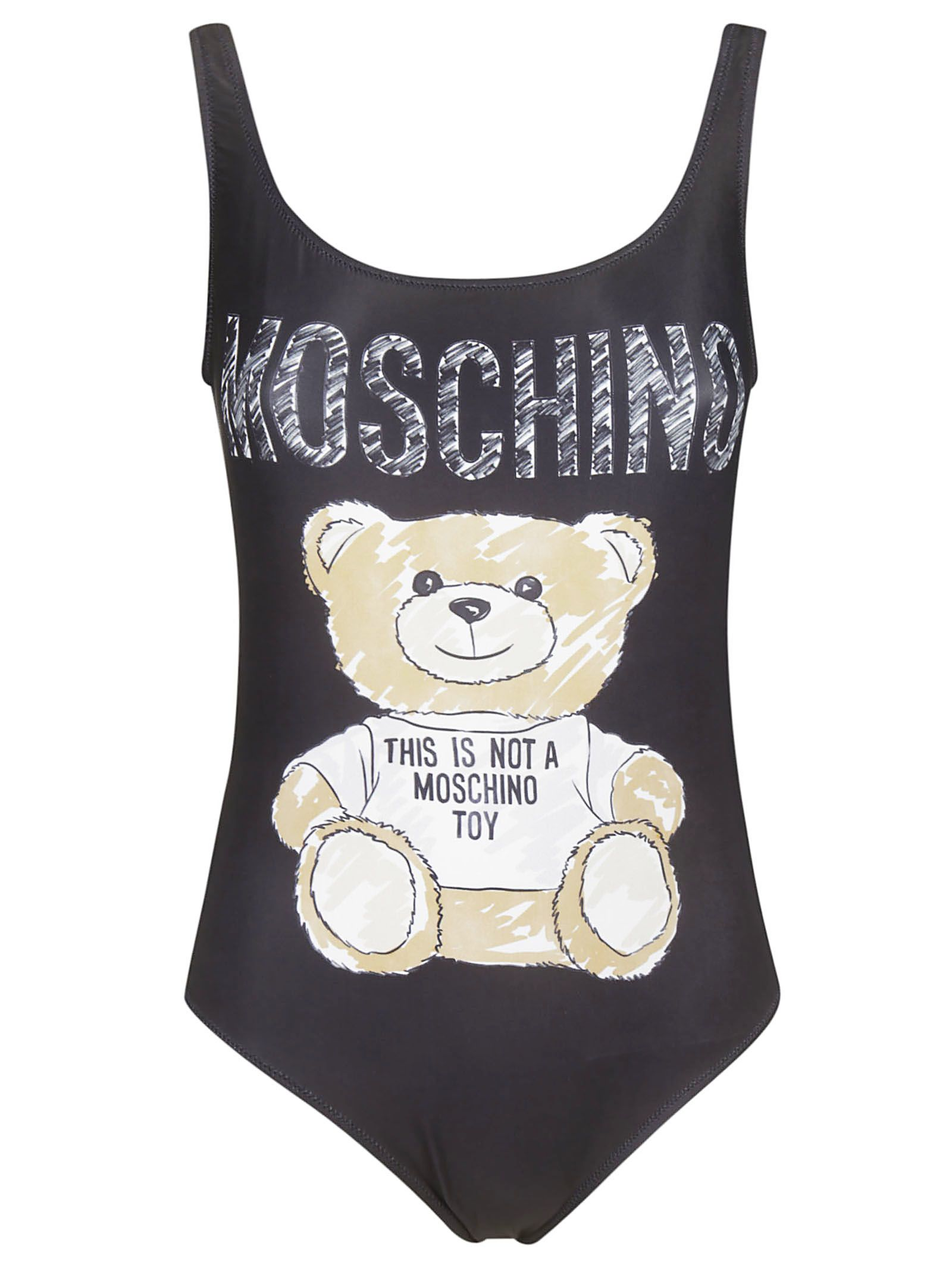 b7a752a32f Moschino Moschino Sketch Bear Swimsuit - black - 10882714 | italist