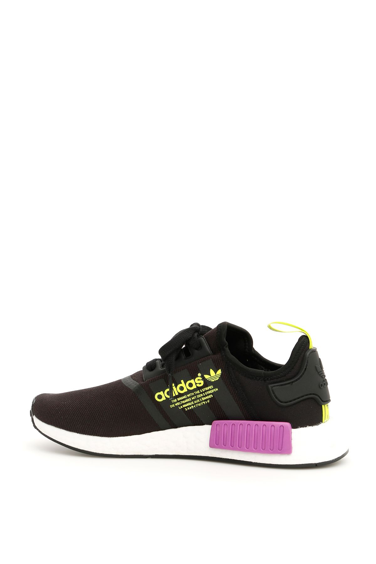 huge selection of 50af7 863b5 ... Adidas Nmd R1 Sneakers - CORE BLACK SHOCK PURPLE (Black) ...