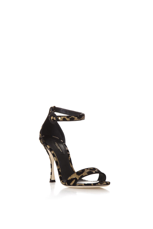 17d834cdd86a0 Dolce   Gabbana Dolce   Gabbana High Leopard Keira Sandals - Black ...