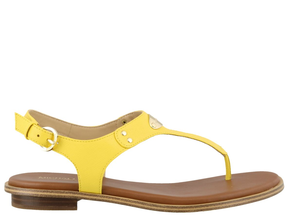 3717001f1ed Michael Kors Michael Kors Plate Thong Sandals - Yellow - 10925567 ...