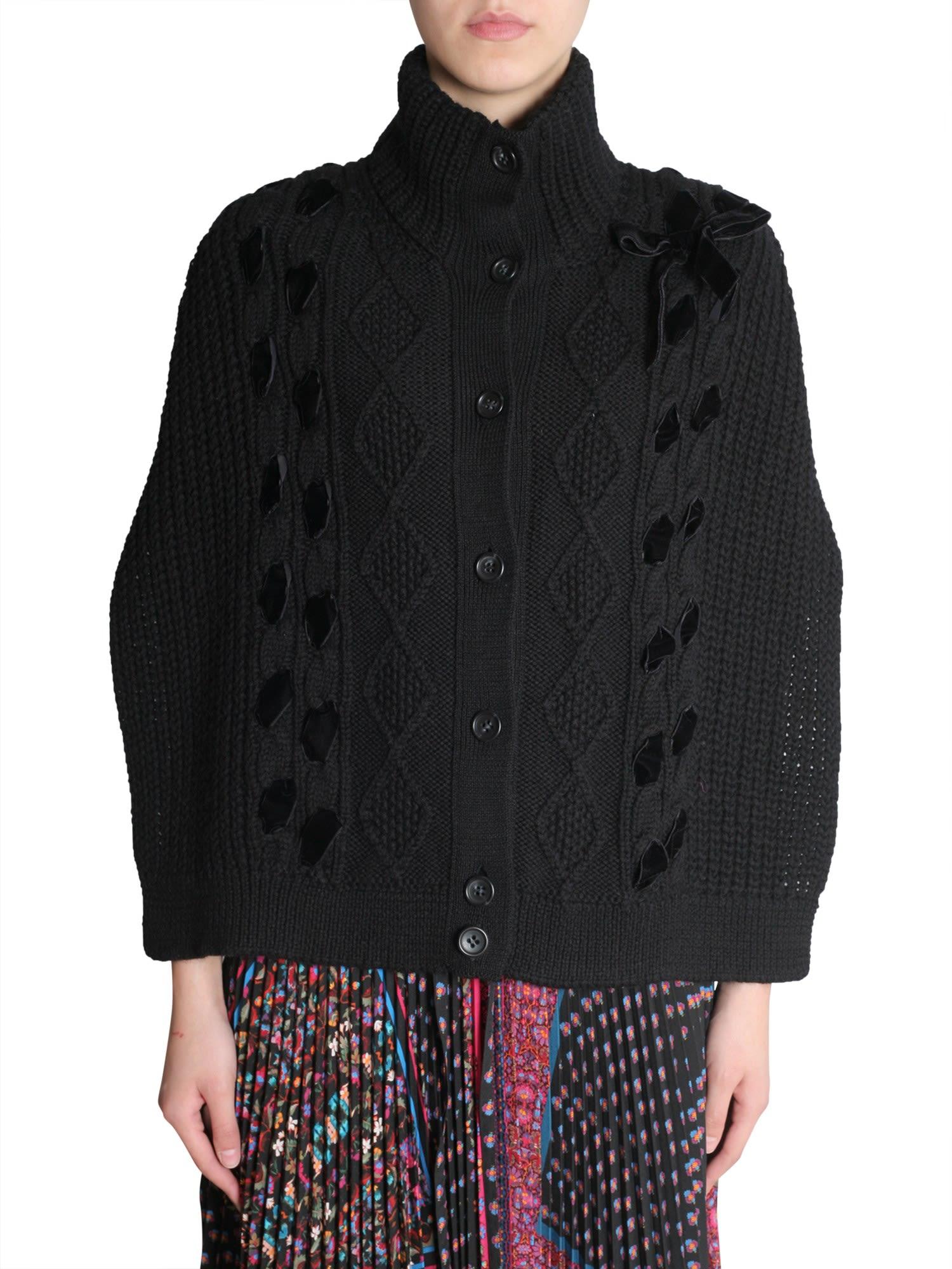 18792e9502 RED Valentino RED Valentino Crochet Cape - NERO - 10771465