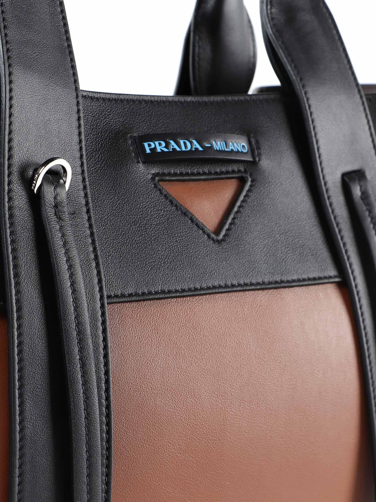 dd3402d60521 Prada Prada Glace Lux Large Tote - P Cognac+nero - 10797788