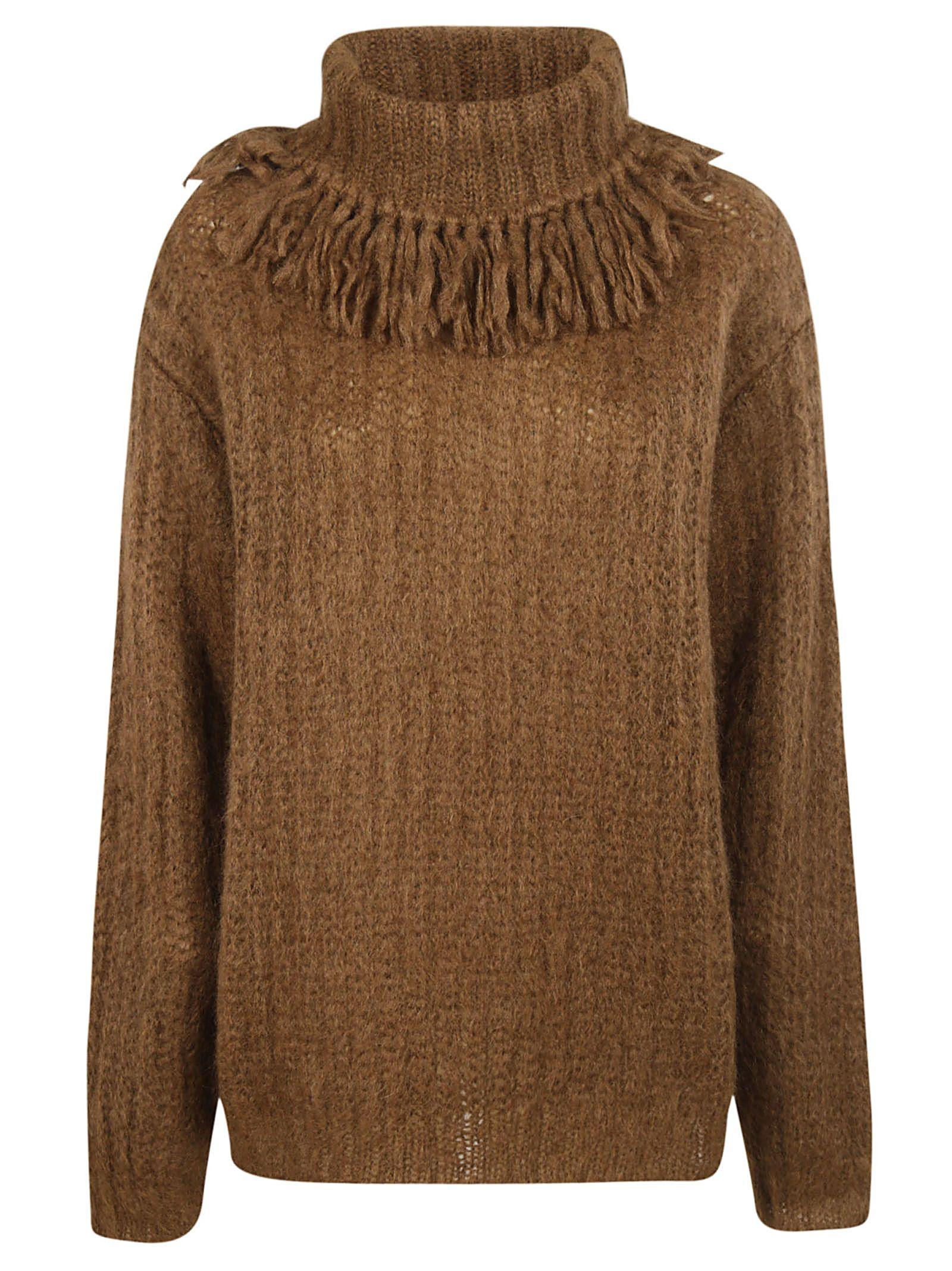 6bc9cb95e28 Miu Miu Miu Miu Turtleneck Sweater - Brown - 10702703