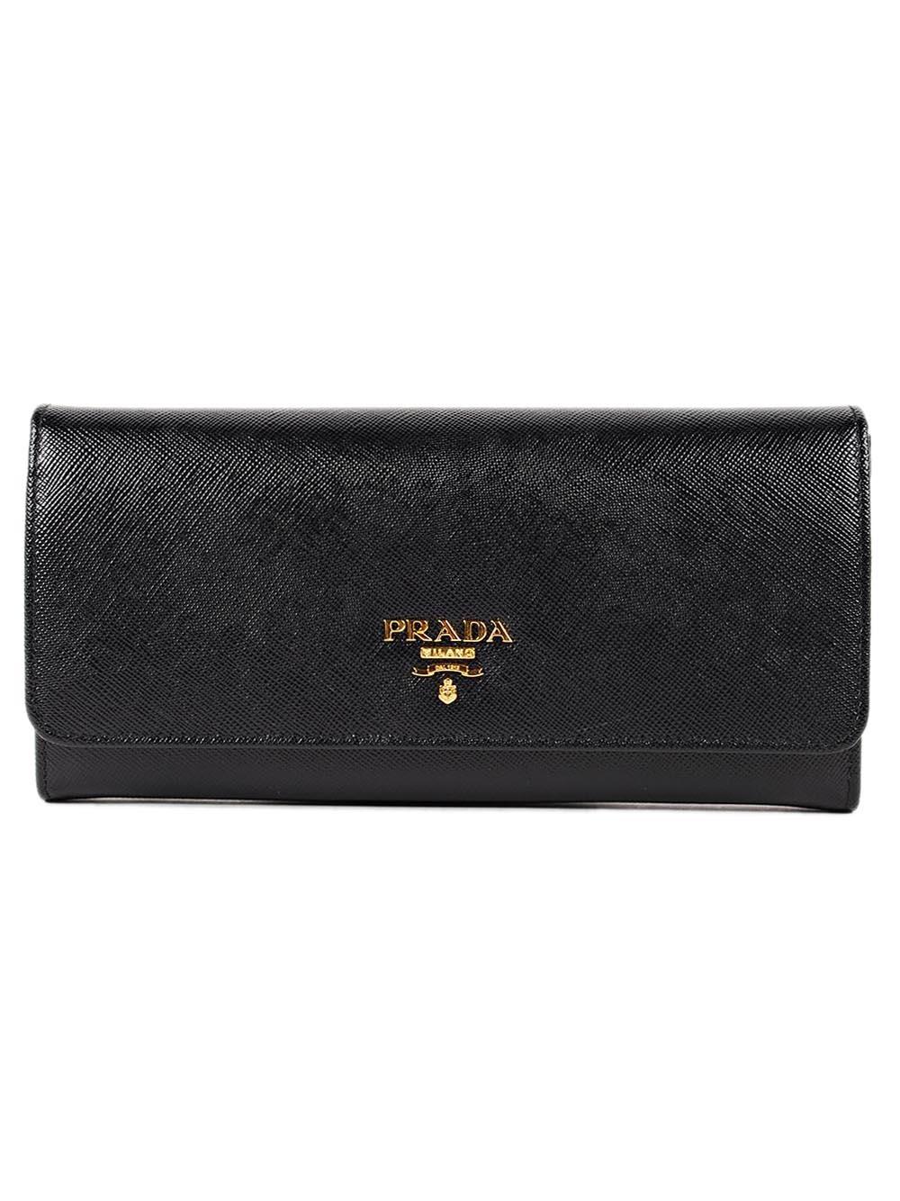 6757f16e132d Prada Prada Saffiano Continental Wallet - Nero - 10956875 | italist
