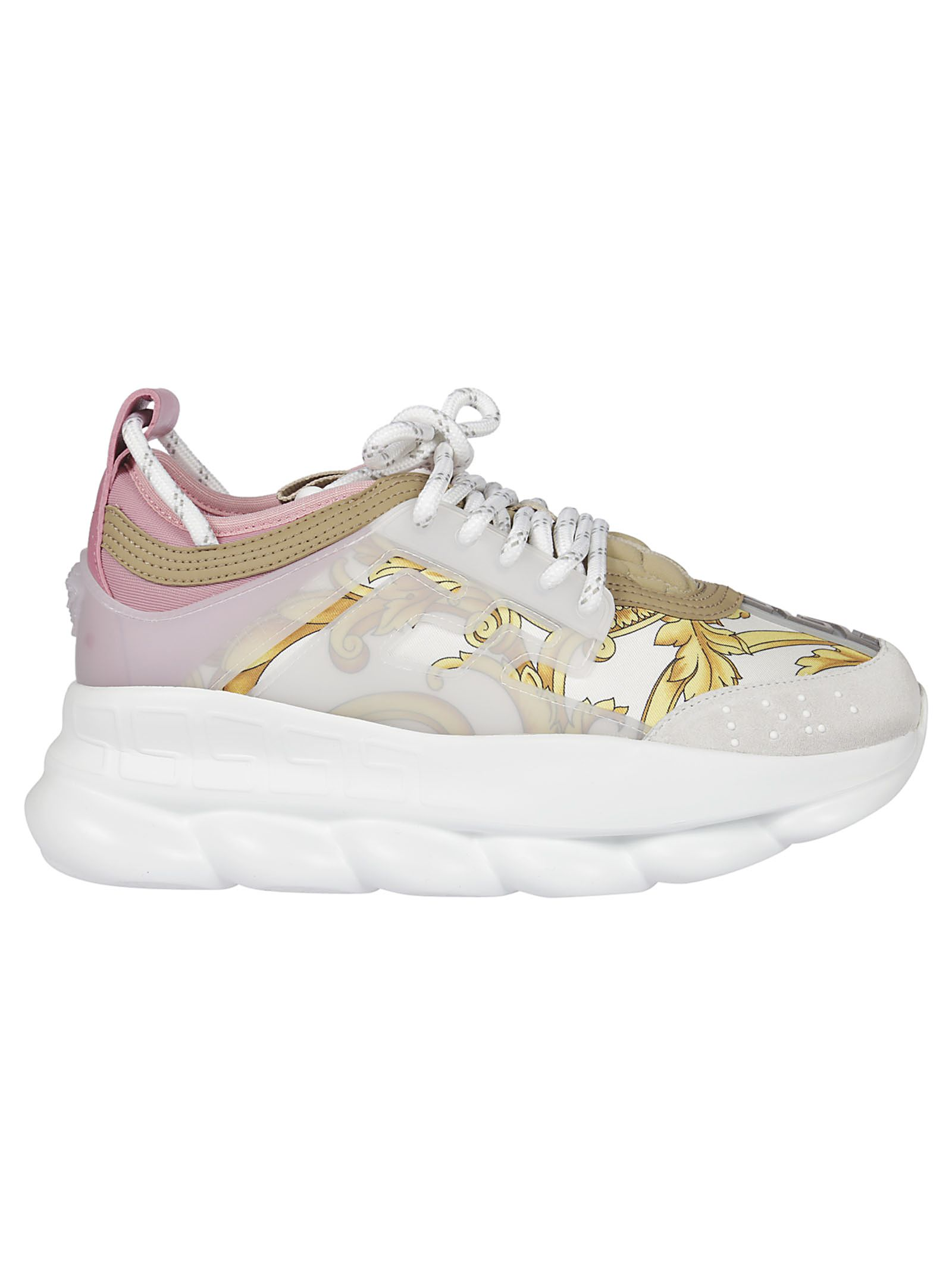 d3347ea6d9d Versace Versace Chain Reaction Baroque Print Sneakers - white ...