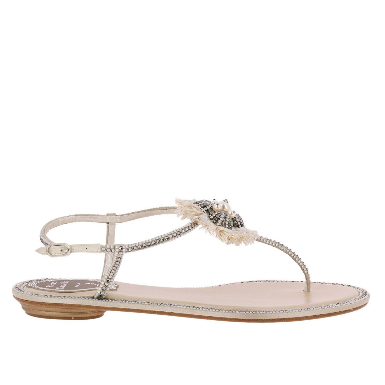 1f12aec0904 René Caovilla Rene Caovilla Flat Sandals Shoes Women Rene Caovilla - Beige  ...