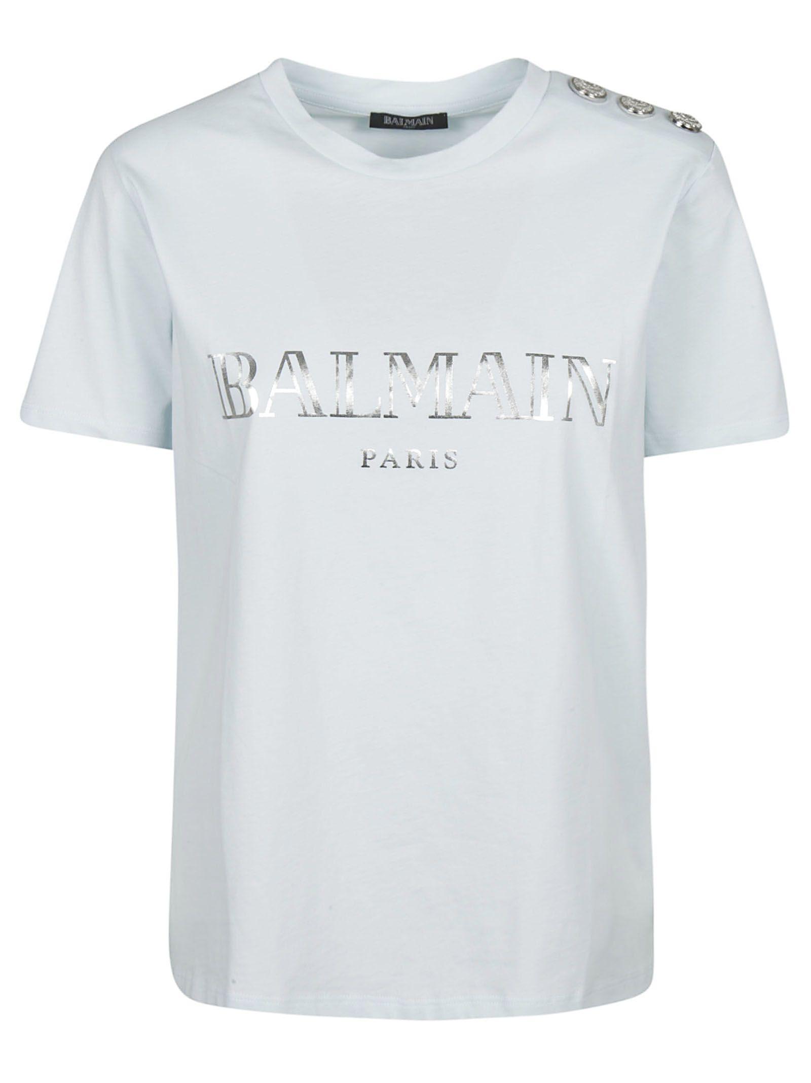 81425eb5a Balmain Balmain Embellished Button T-shirt - Basic - 10877525 | italist