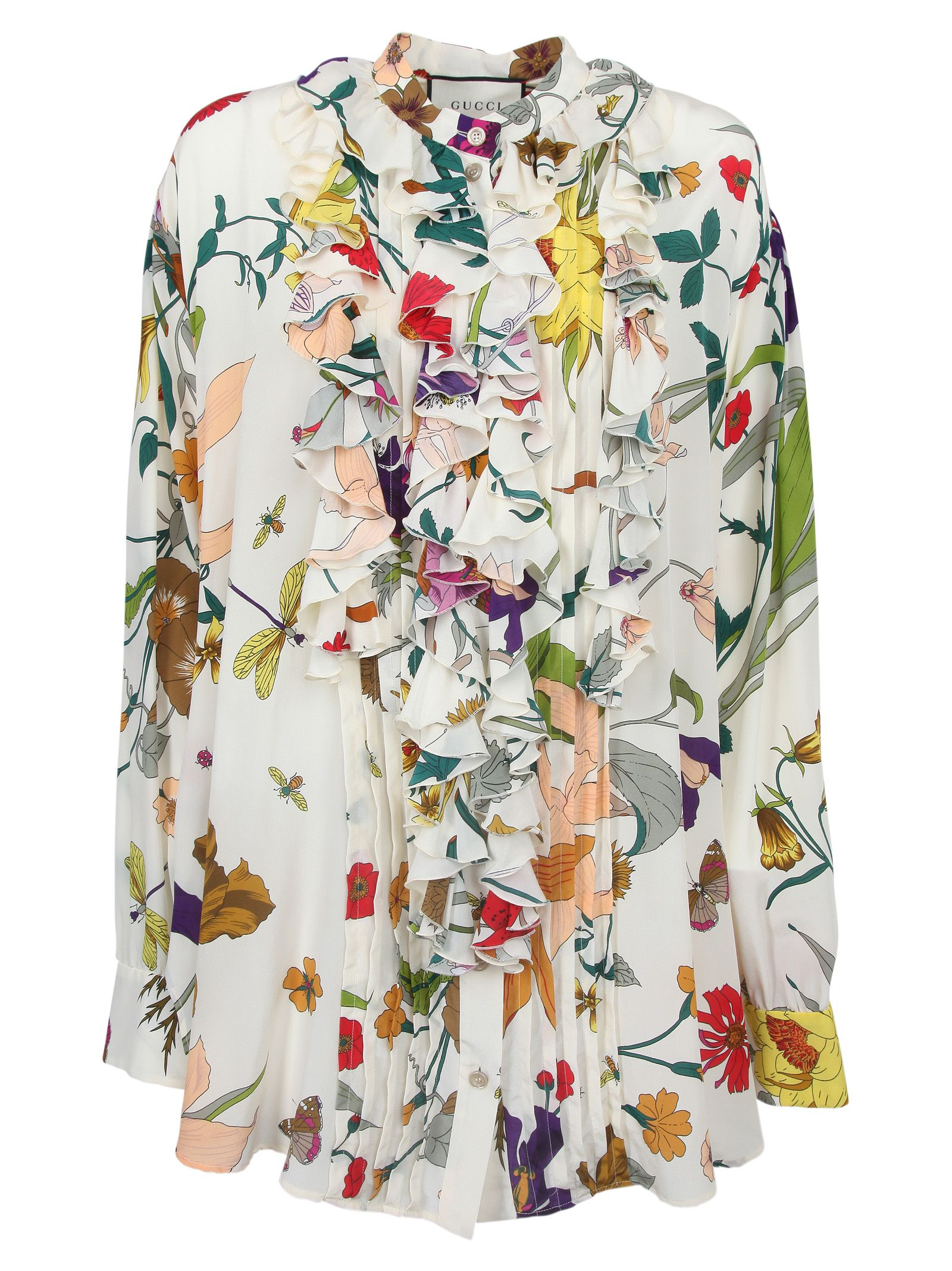 Gucci Gucci Floral Blouse Ivory Printed 10785311 Italist