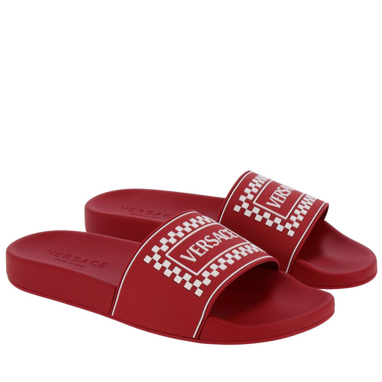 d039e1d5466e40 Versace Versace Sandals Shoes Men Versace - Red - 10783152