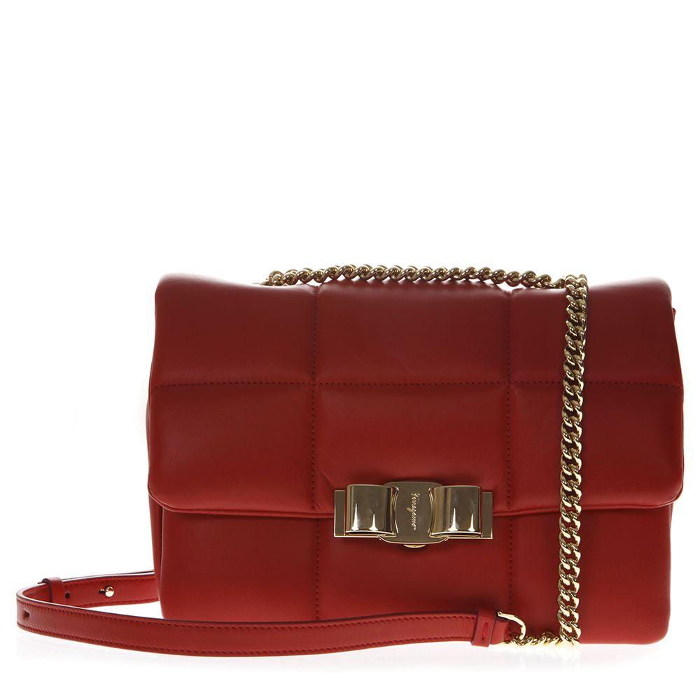 7496ca890ed3 Salvatore Ferragamo Salvatore Ferragamo Vara Soft Red Leather ...